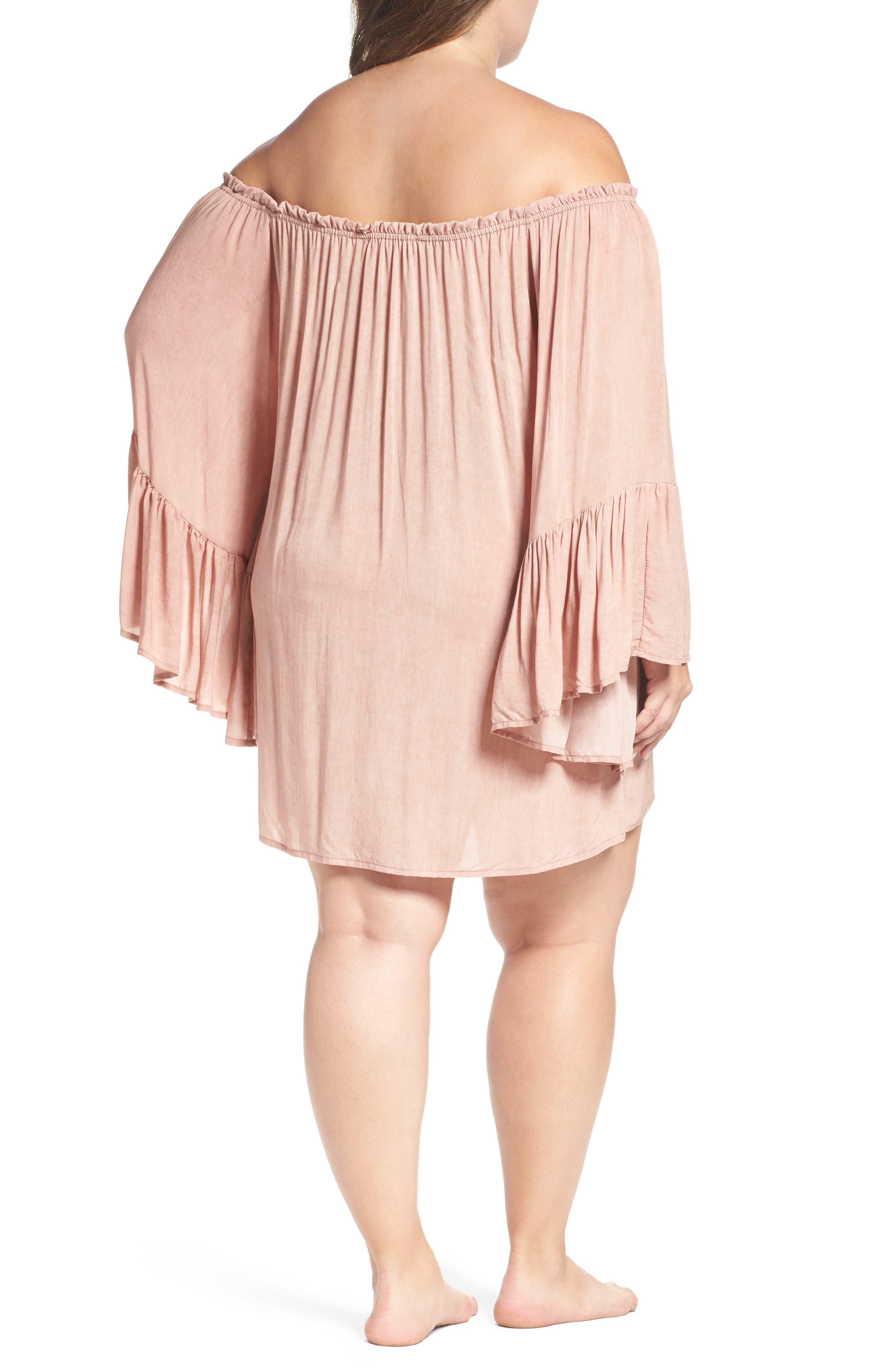 Alternate Image 2  - Elan Cover-Up Dress (Plus Size)