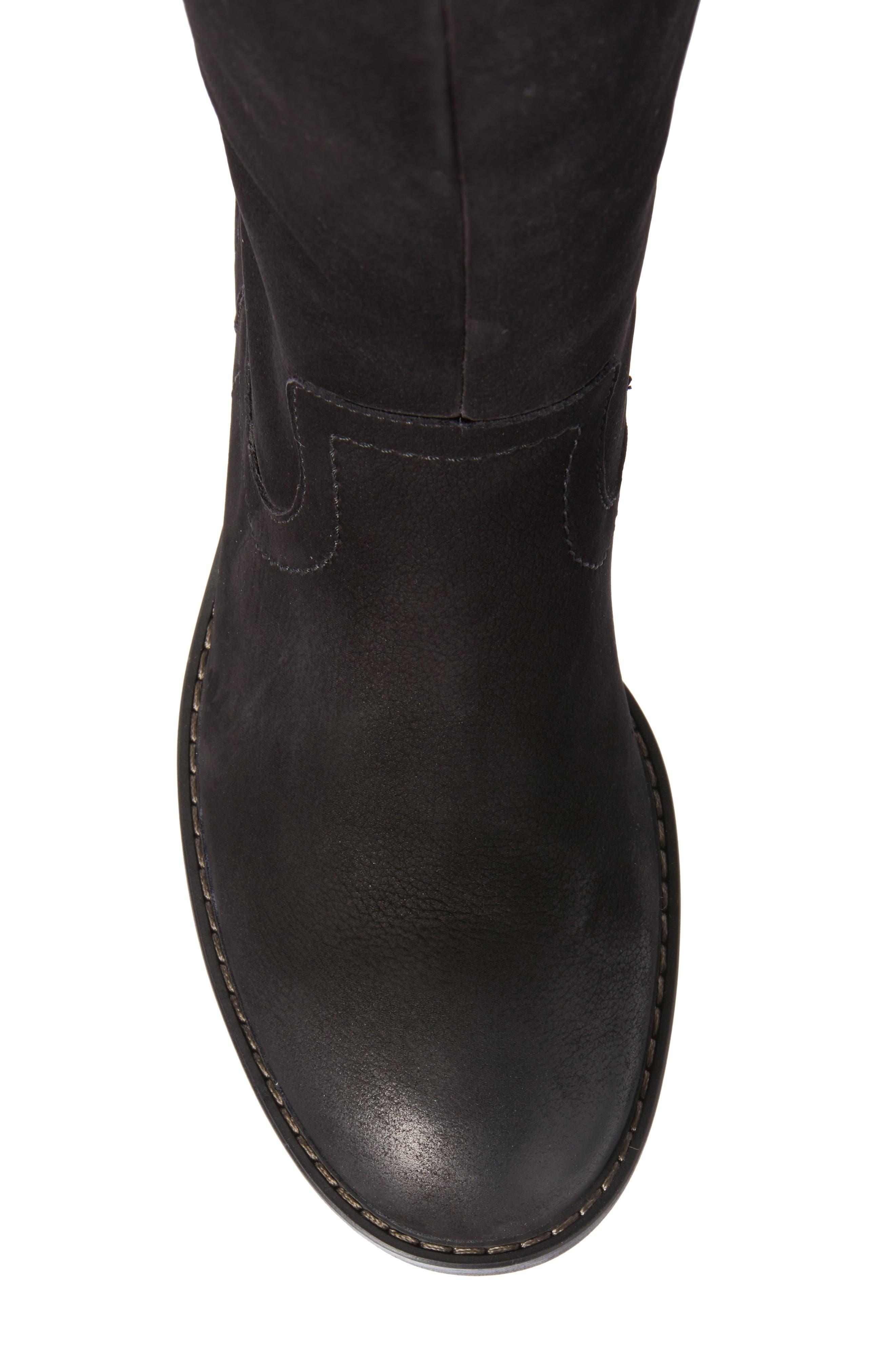 Kendal Boot,                             Alternate thumbnail 5, color,                             Black Nubuck Leather