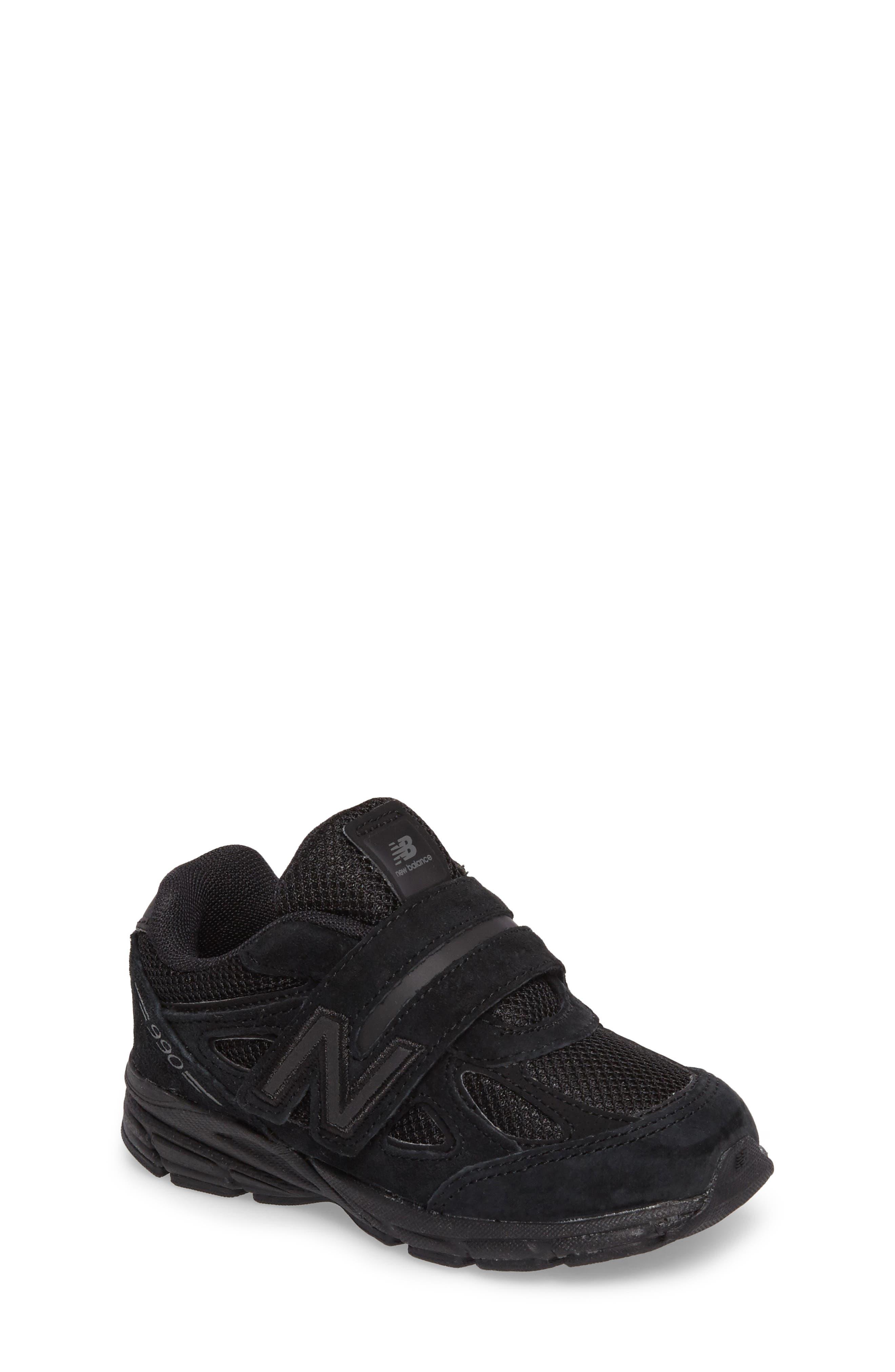 '990v4' Sneaker,                             Main thumbnail 1, color,                             Black/ Black