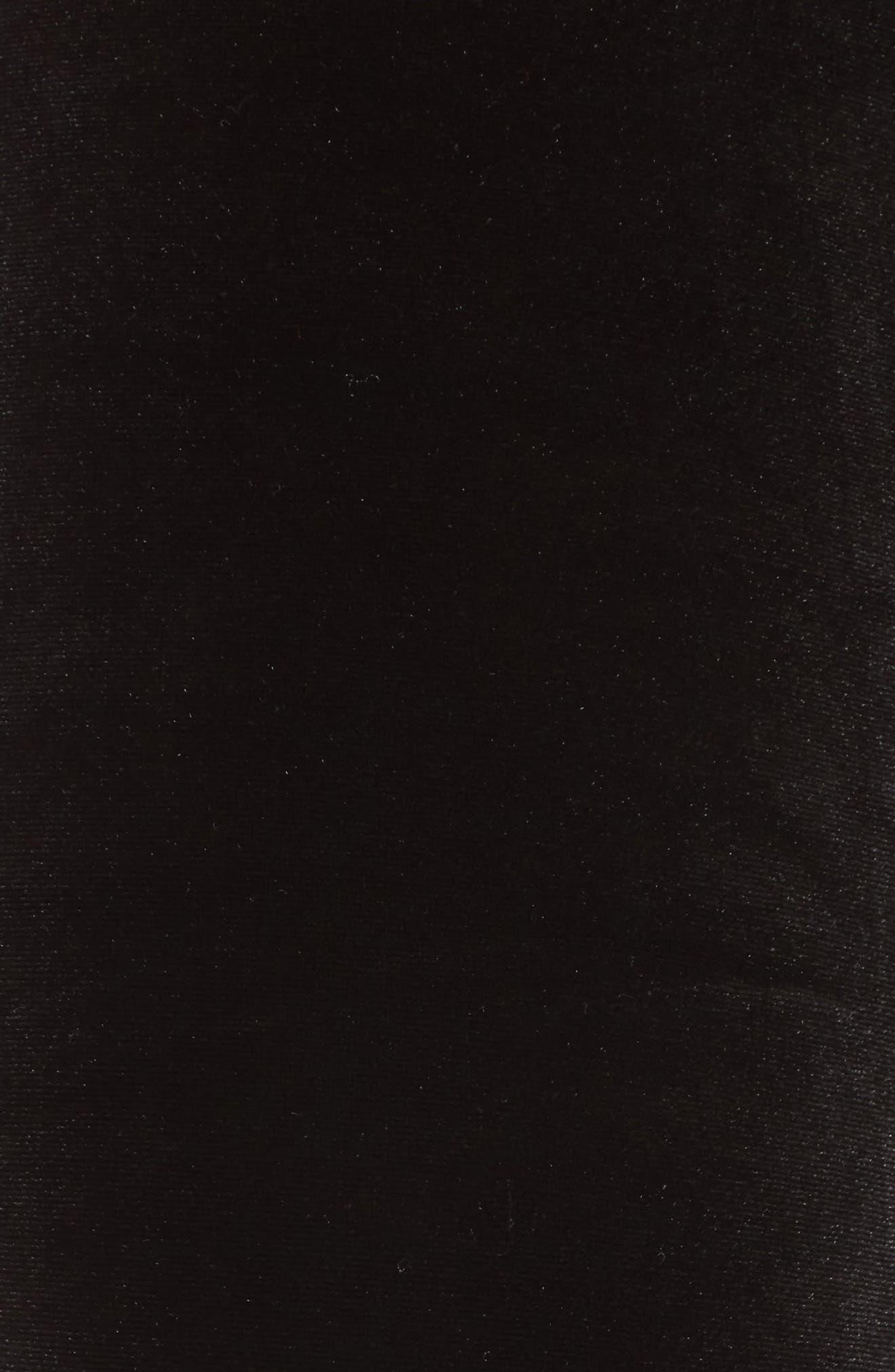 Velvet Leggings,                             Alternate thumbnail 5, color,                             Rich Black
