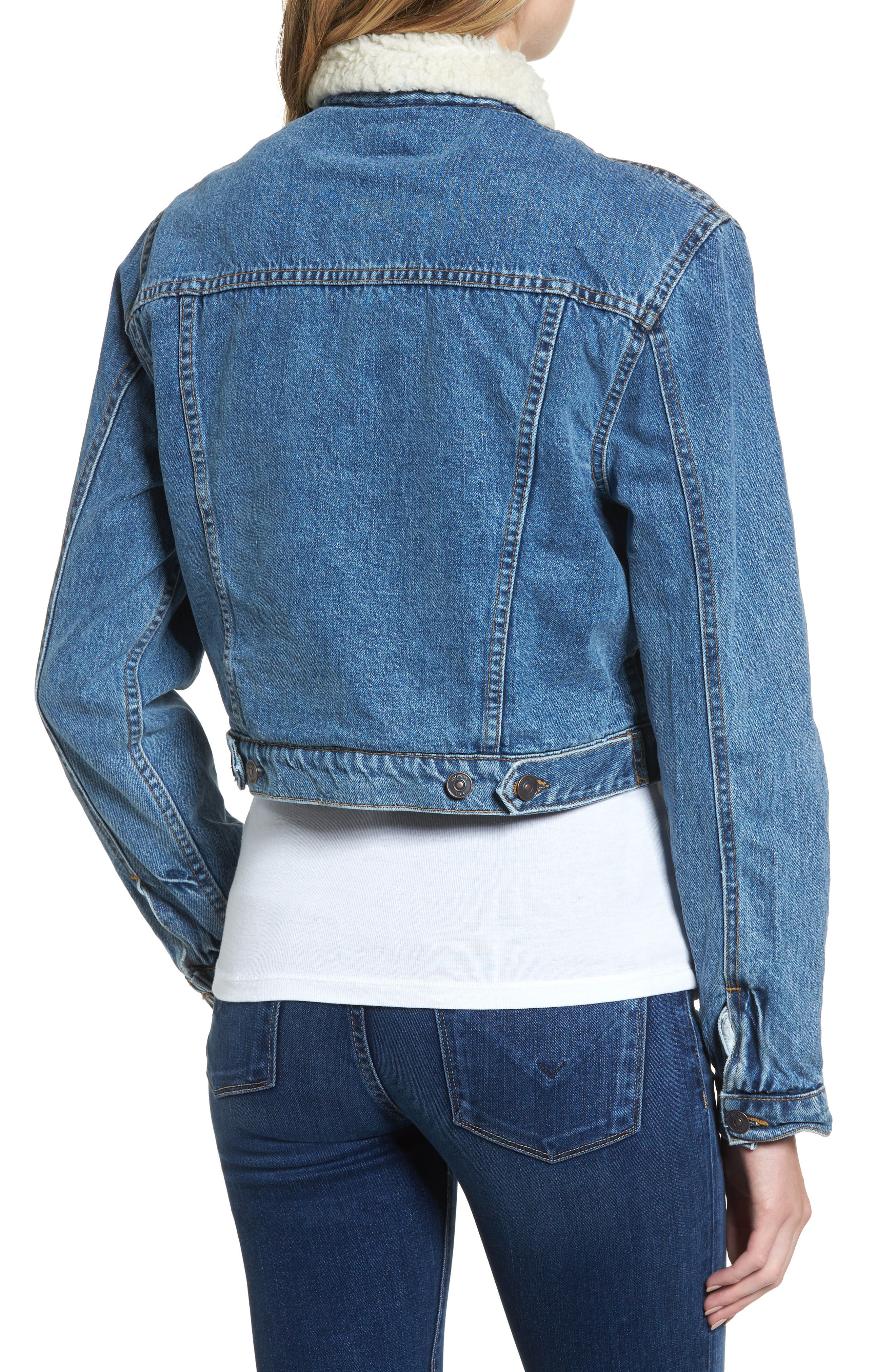 Alternate Image 2  - Hudson Jeans Georgia Fleece Lined Denim Jacket