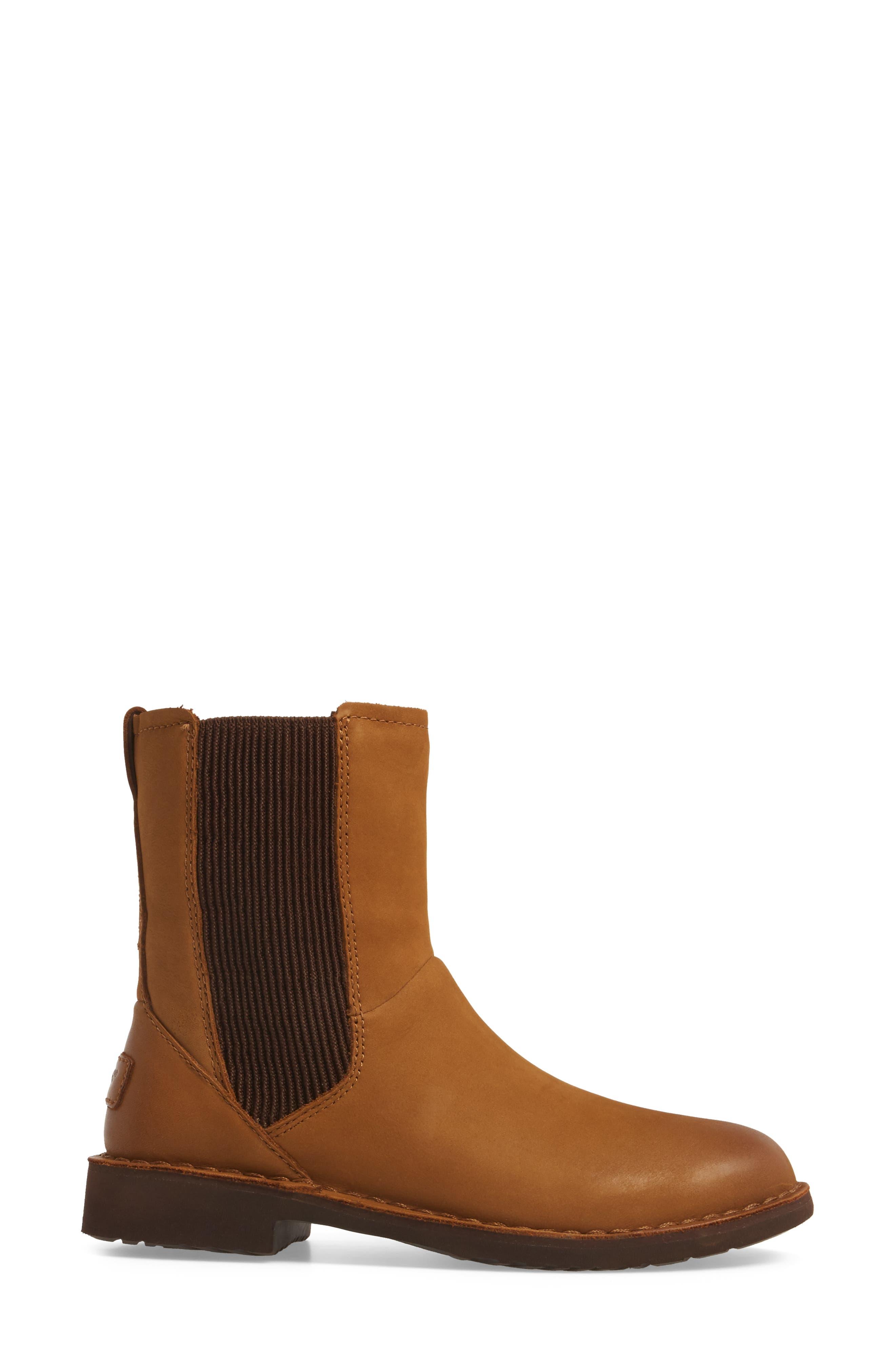 Larra Boot,                             Alternate thumbnail 3, color,                             Chestnut Nubuck Leather