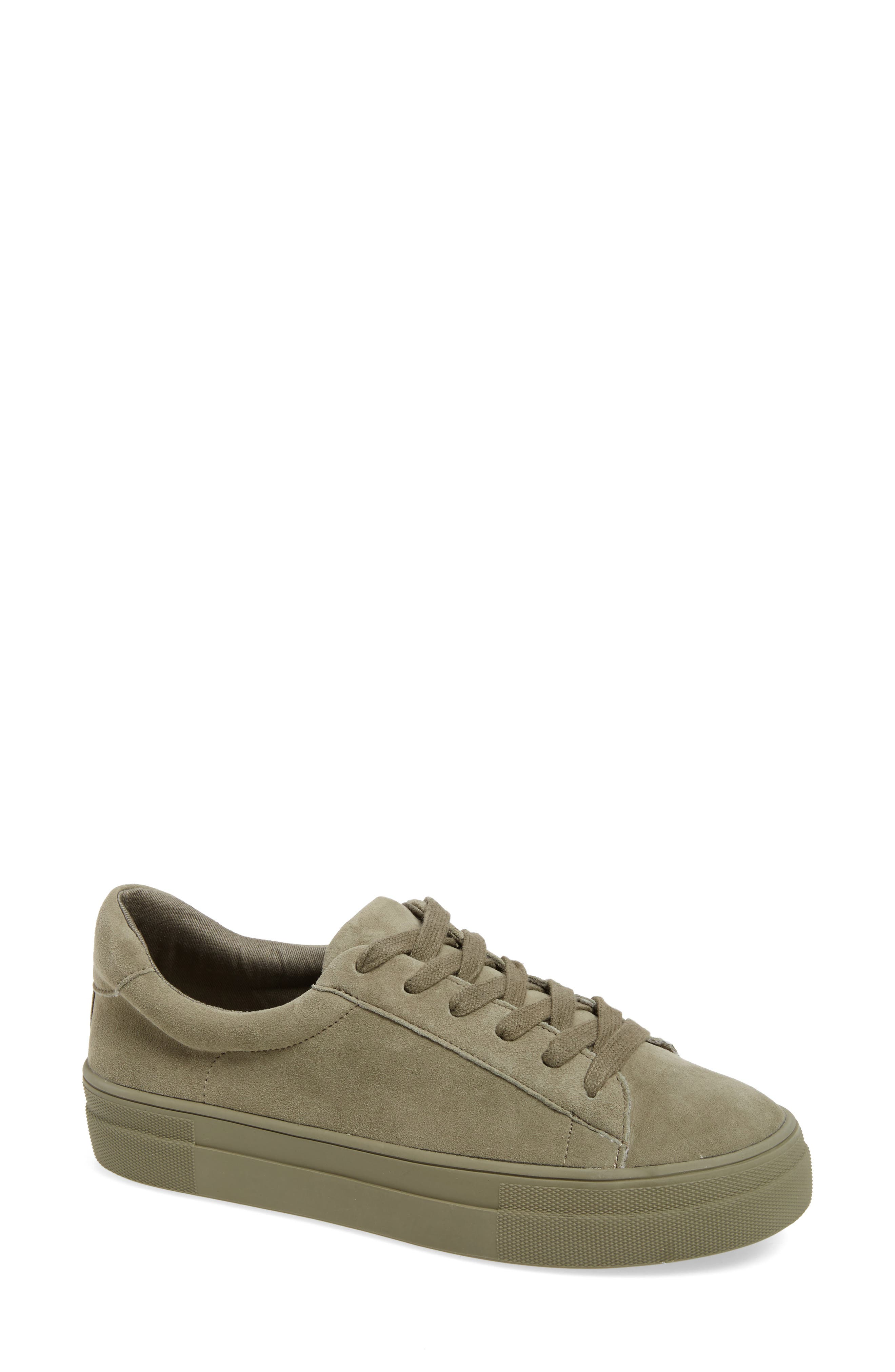 Gisela Low Top Sneaker,                             Main thumbnail 1, color,                             Olive Suede