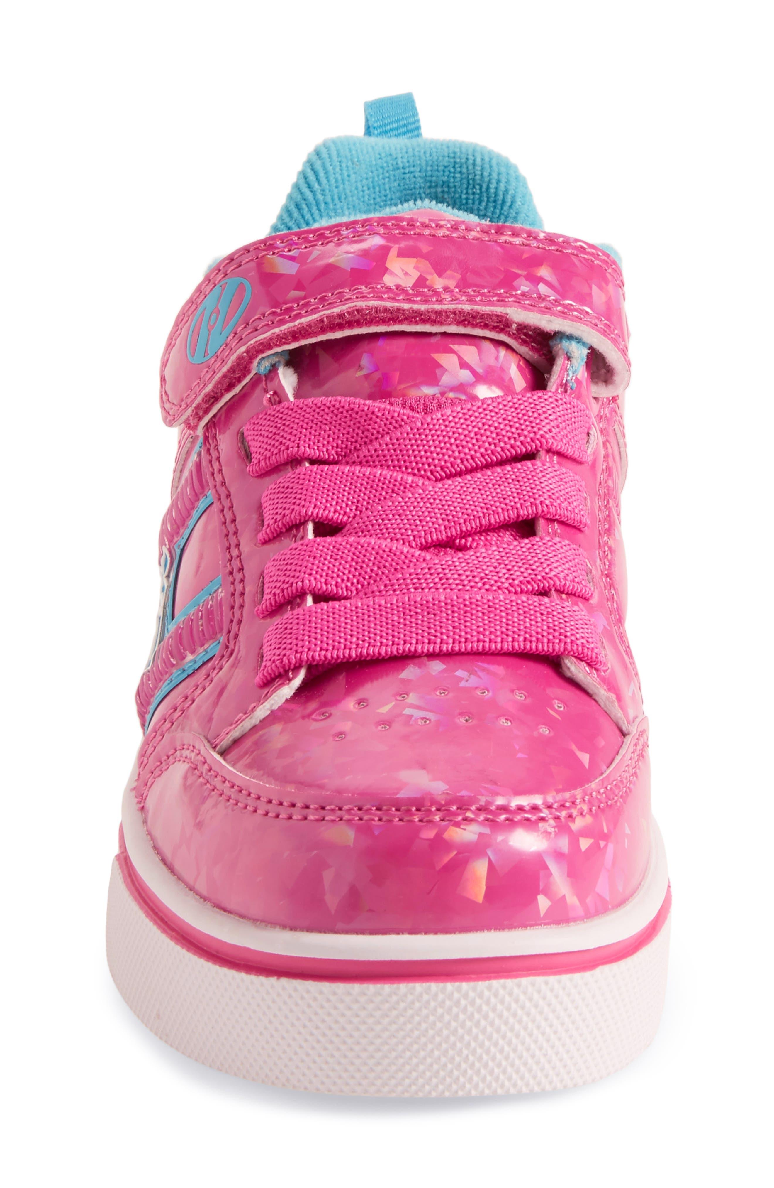 Bolt Plus X2 Light-Up Skate Sneaker,                             Alternate thumbnail 4, color,                             Hot Pink Hologram/ Neon Blue