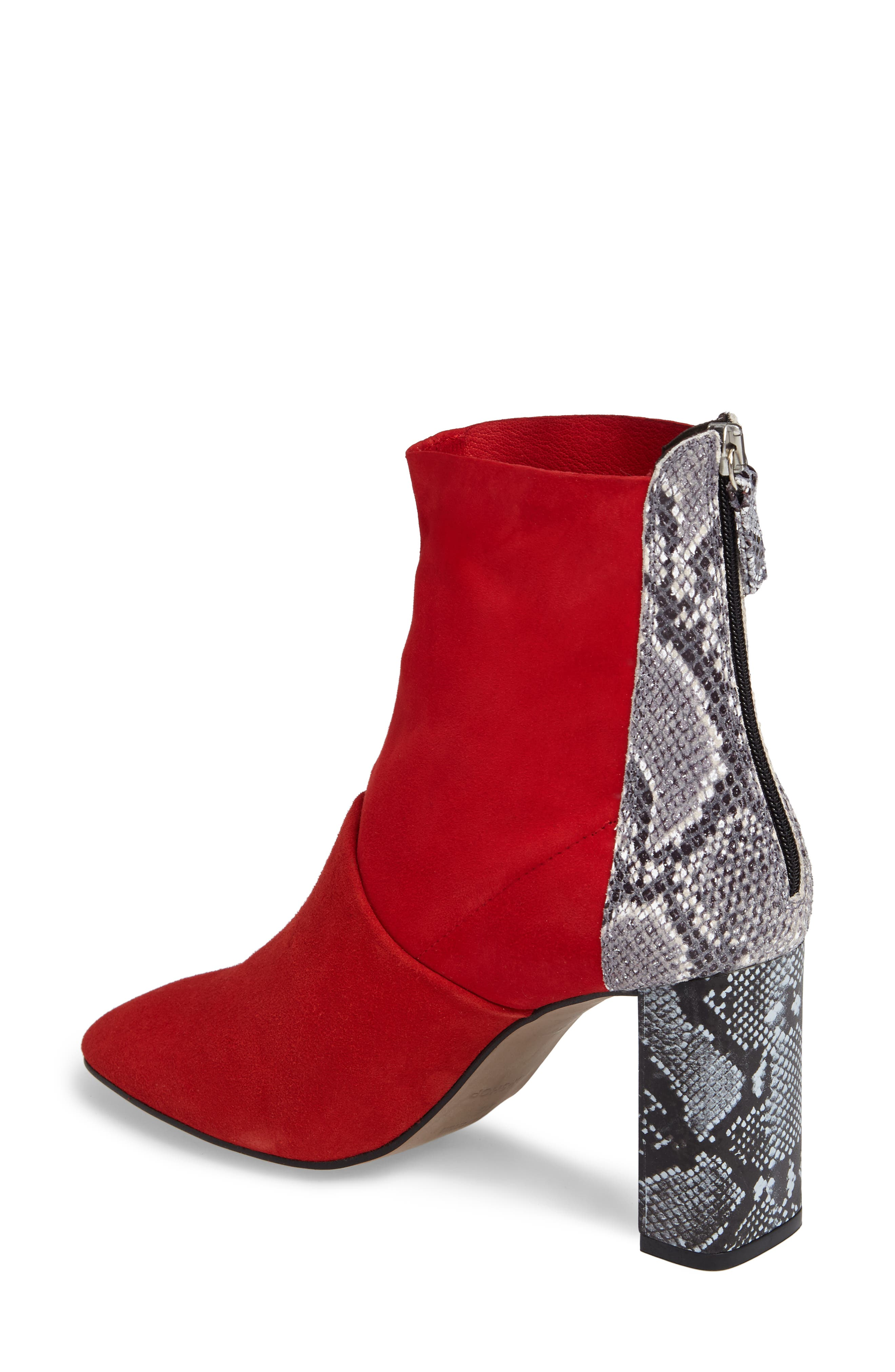 Hunk Snake-Textured Bootie,                             Alternate thumbnail 2, color,                             Red Multi