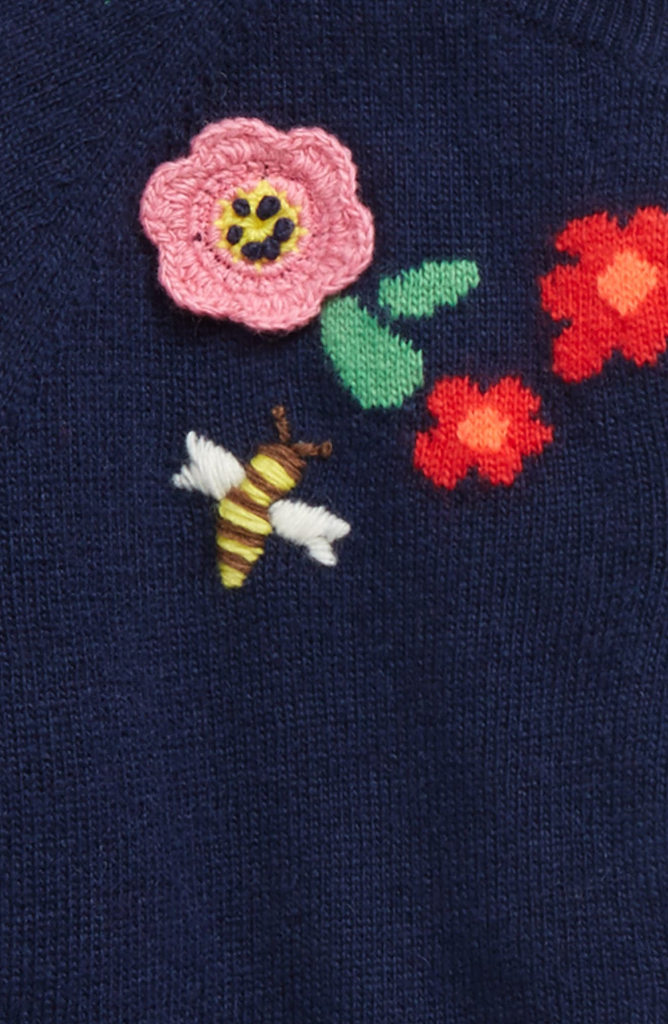 Alternate Image 2  - Mini Boden Pretty Yoke Cardigan (Toddler Girls, Little Girls & Big Girls)