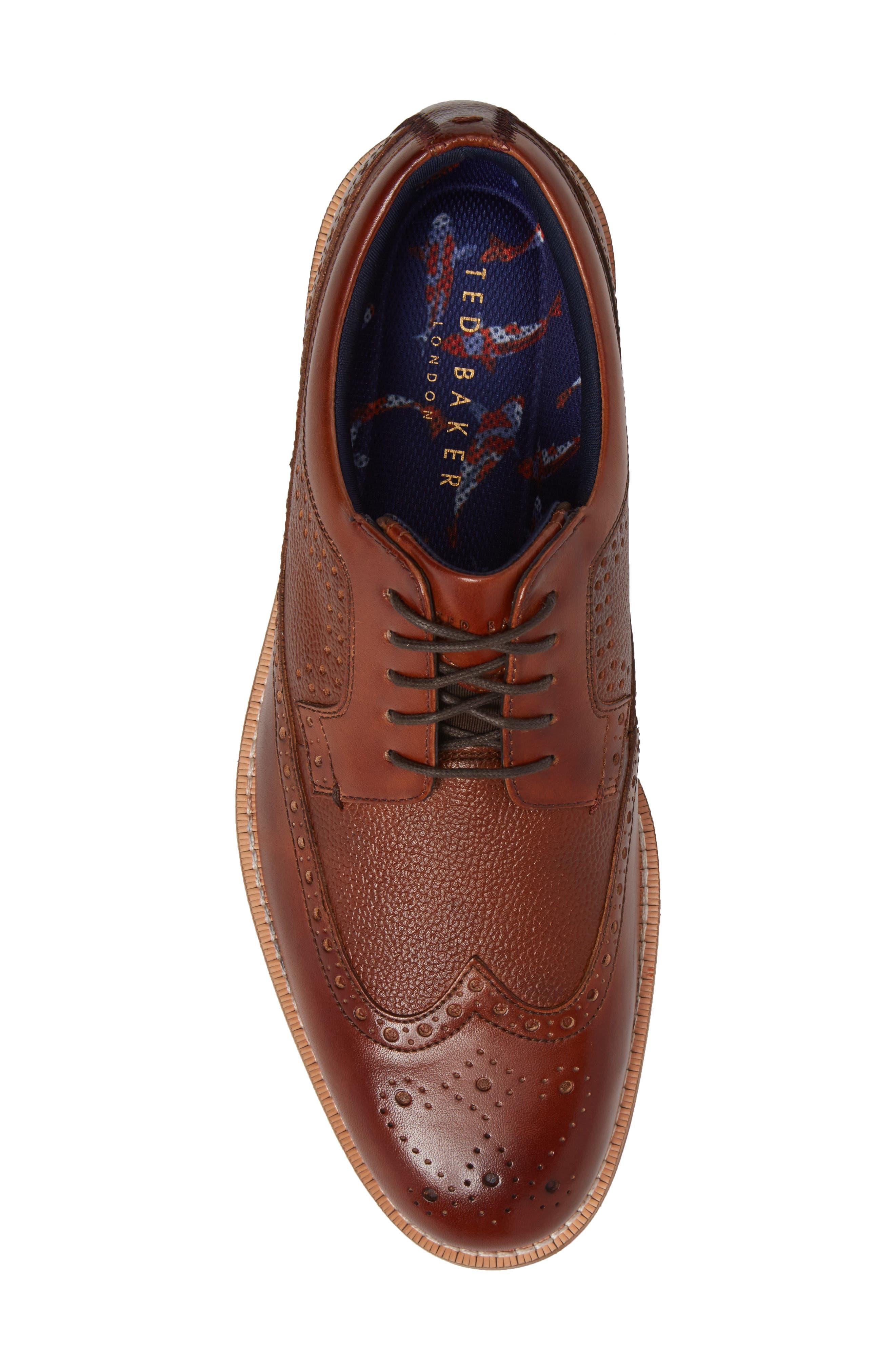 Deelani Longwing Derby,                             Alternate thumbnail 5, color,                             Tan Leather