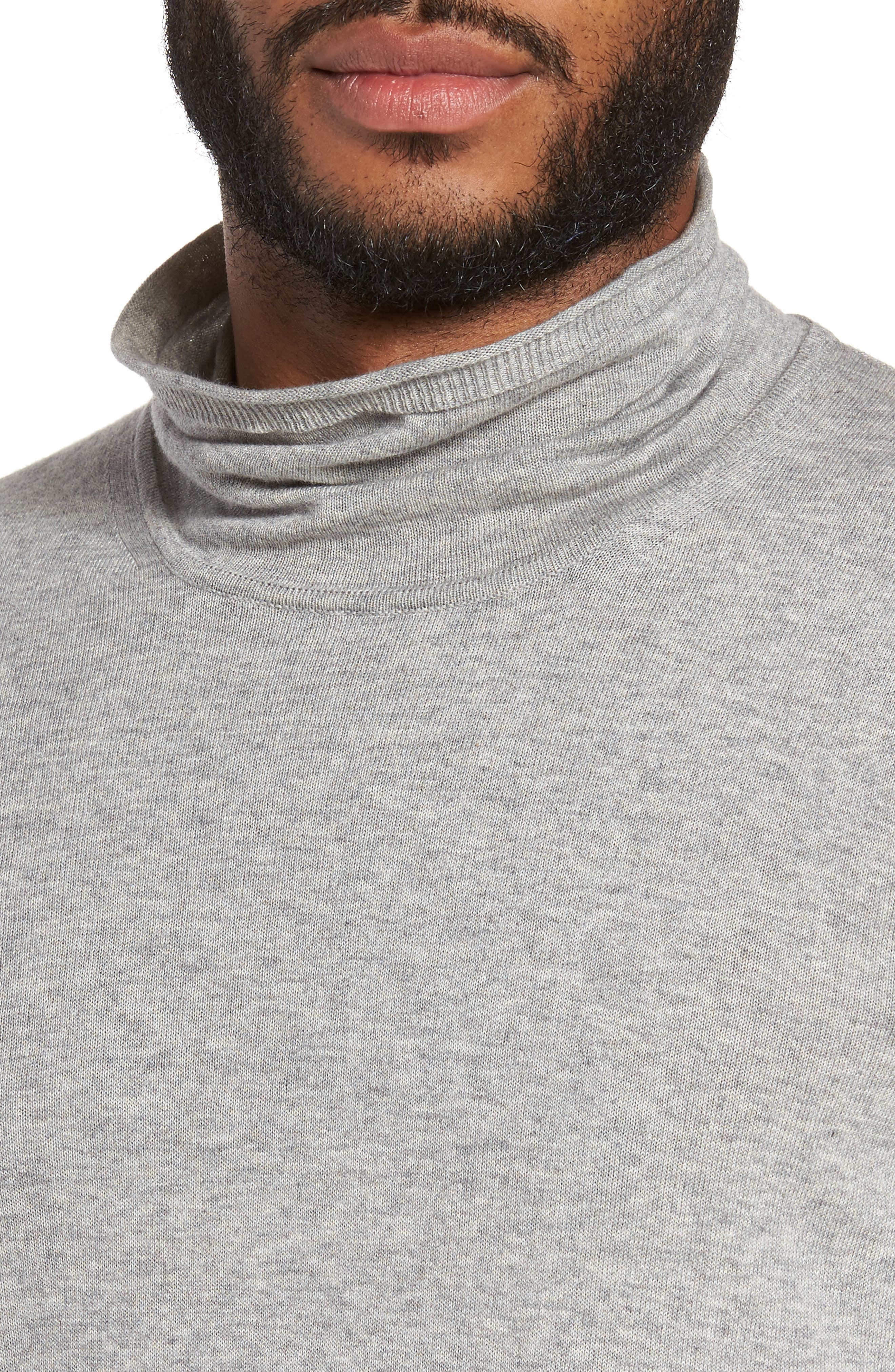 Hess Wool Turtleneck Sweater,                             Alternate thumbnail 4, color,                             Light Grey