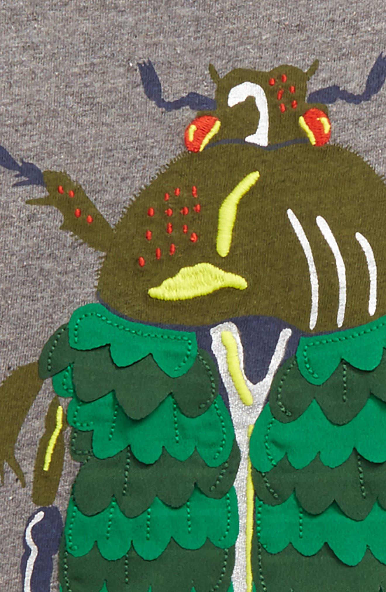 Textured Creature T-Shirt,                             Alternate thumbnail 2, color,                             Grey Marl Beetle