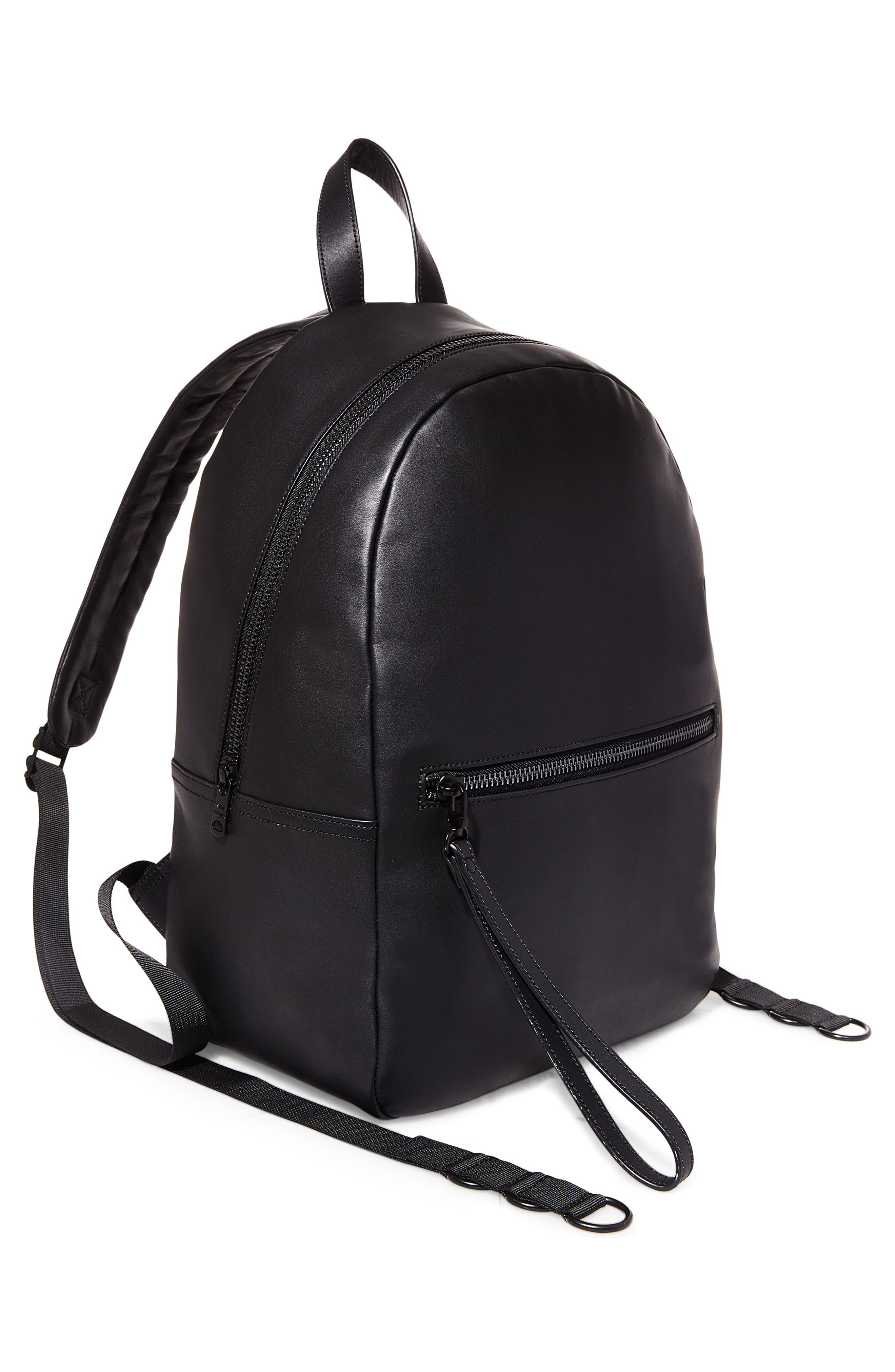 GQ x Steve Madden Leather Backpack,                             Alternate thumbnail 2, color,                             Black