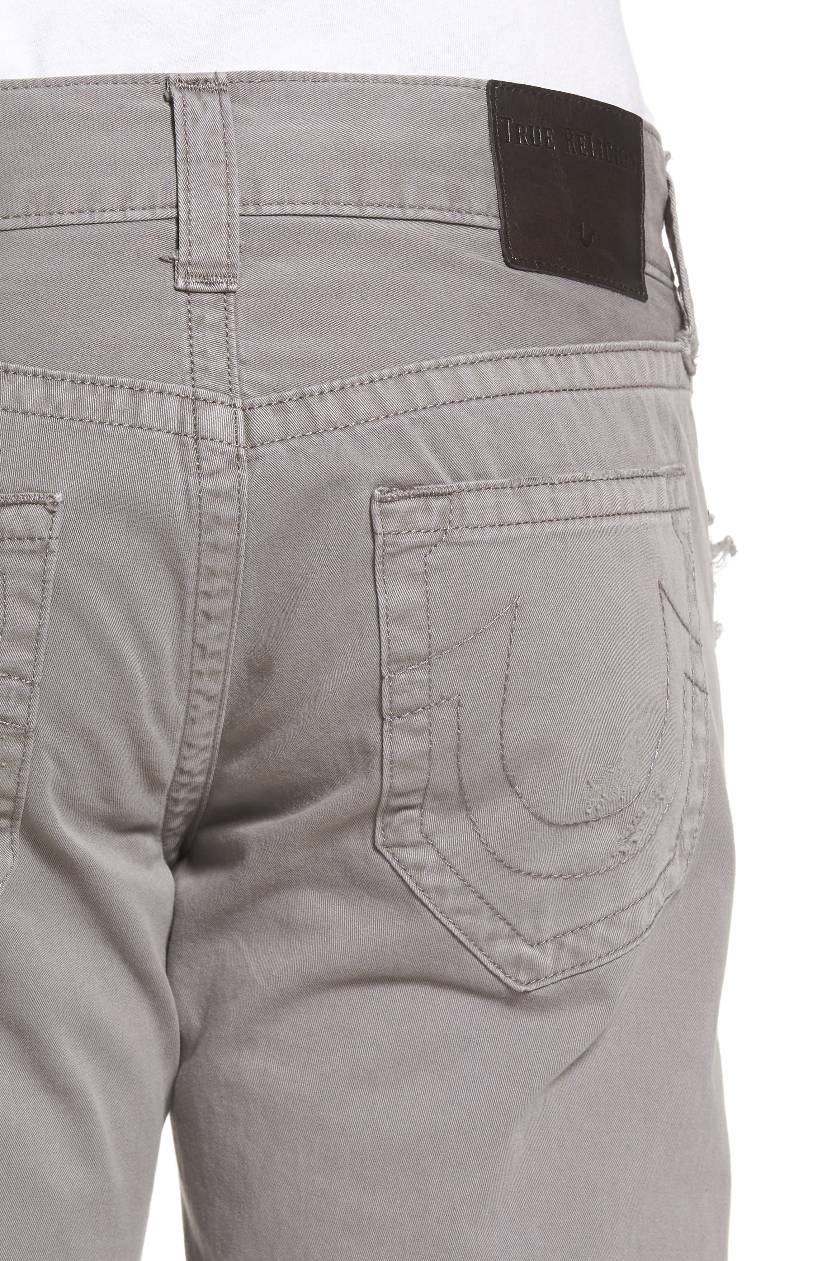 Geno Straight Fit Jeans,                             Alternate thumbnail 4, color,                             Steel Grey