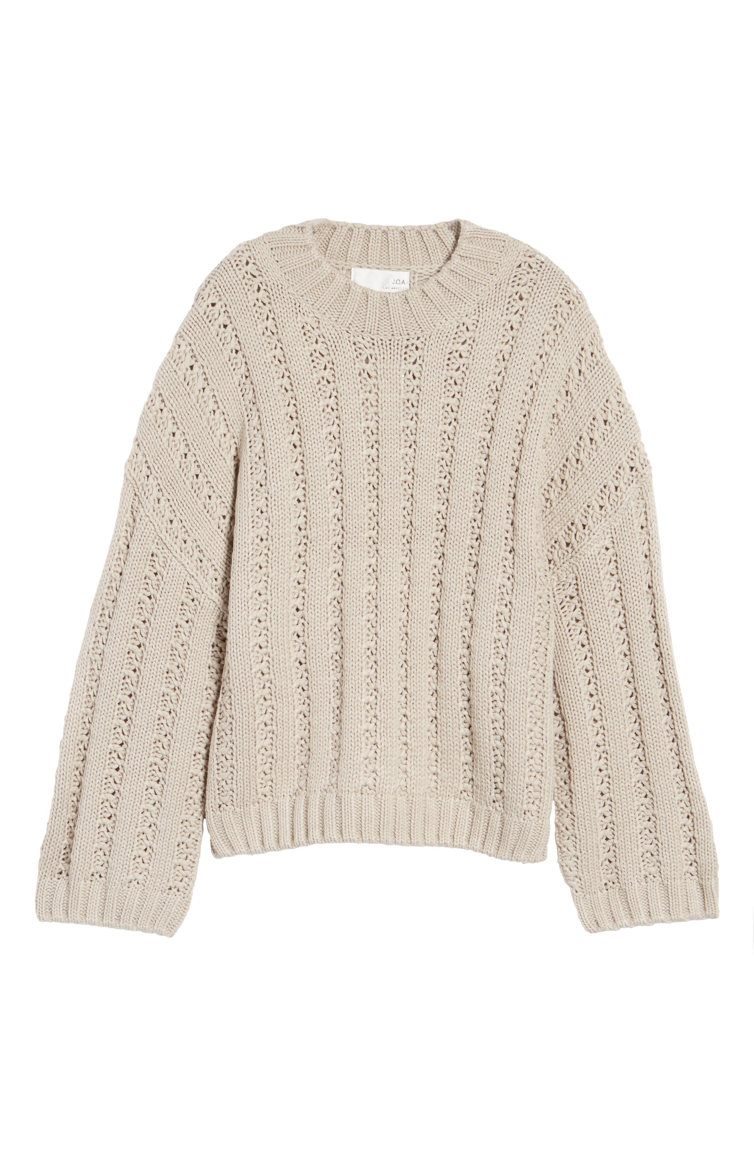 Alternate Image 6  - J.O.A. Chunky Textured Sweater