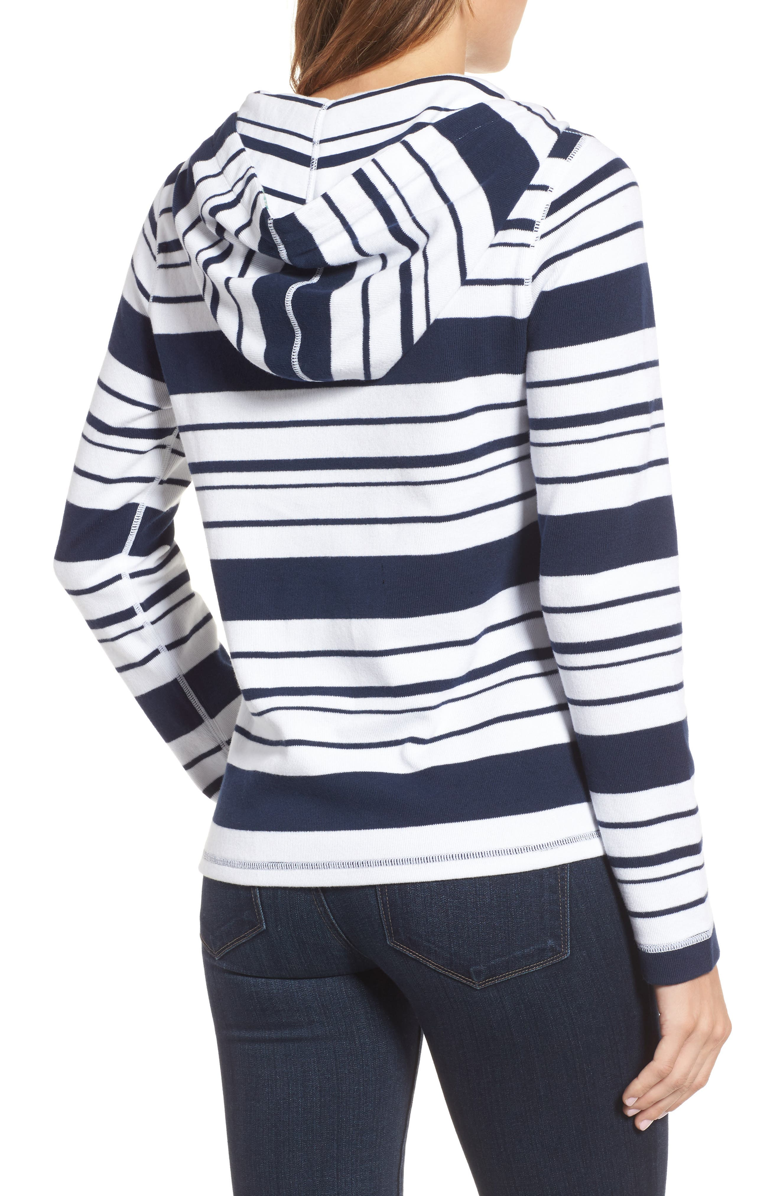 Aruba Stripe Hoodie,                             Alternate thumbnail 2, color,                             Ocean Deep