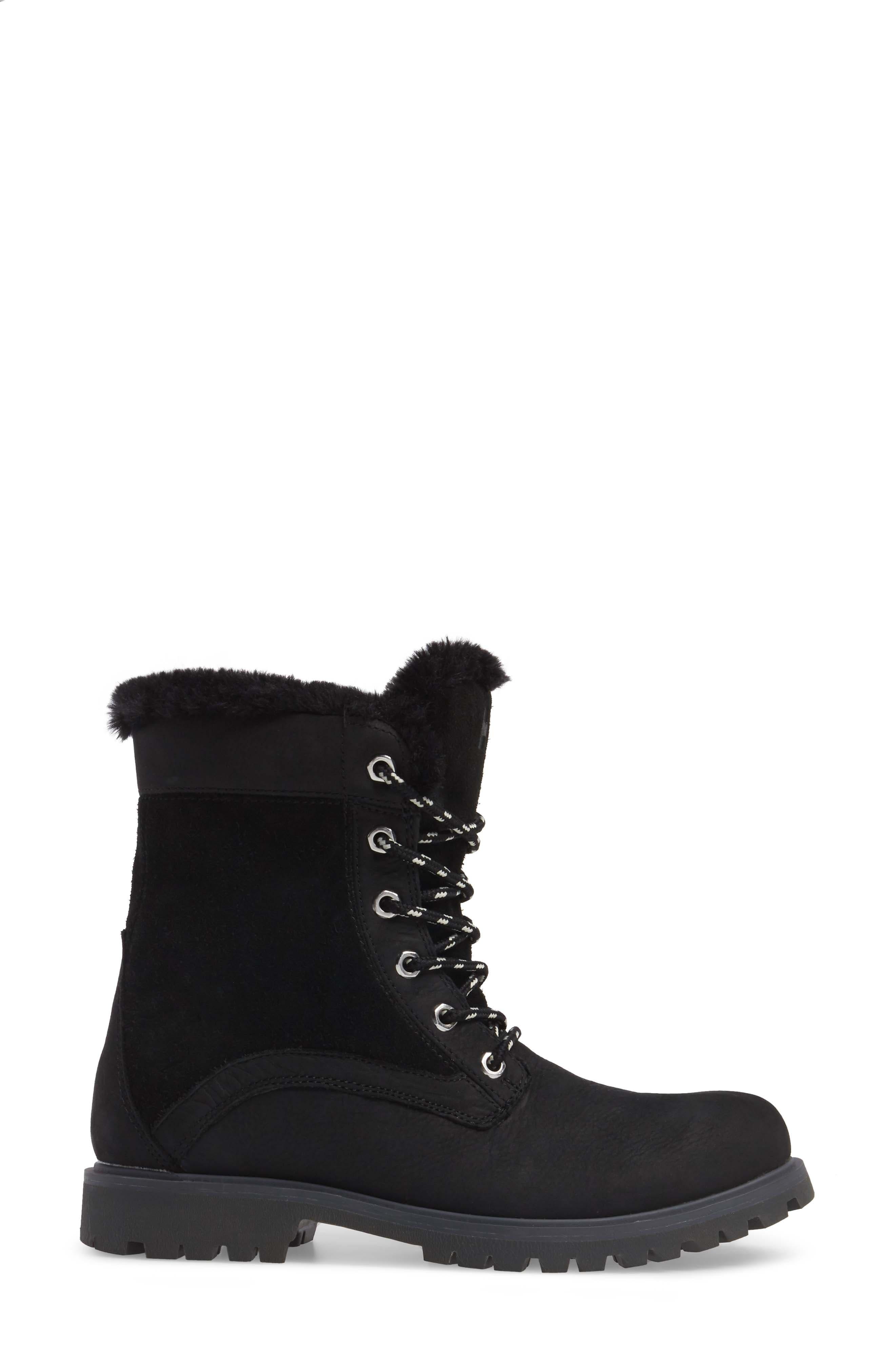 Marion Waterproof Winter Boot,                             Alternate thumbnail 3, color,                             Jet Black / Ebony / Black