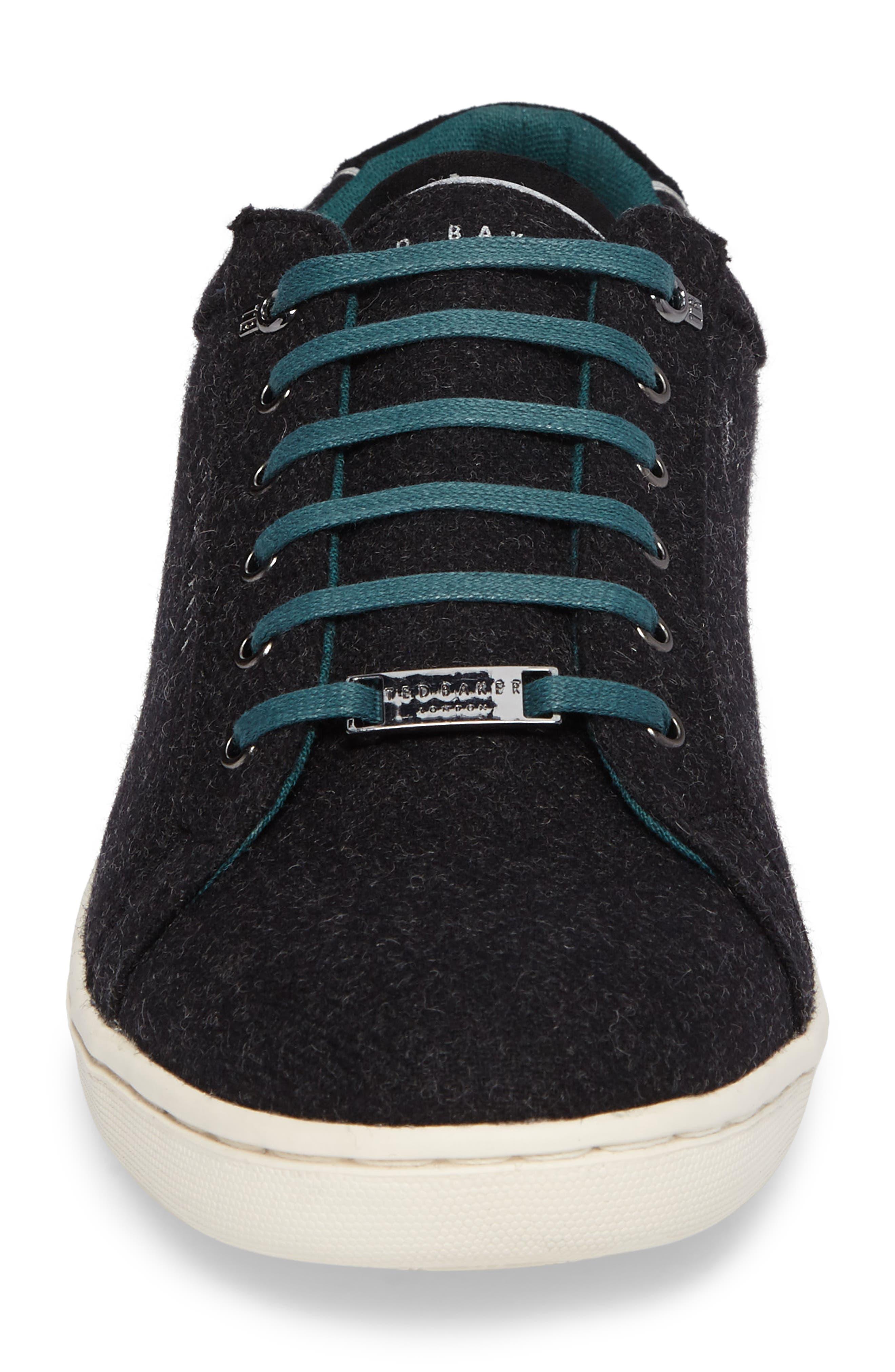 Minem 3 Sneaker,                             Alternate thumbnail 4, color,                             Black Wool