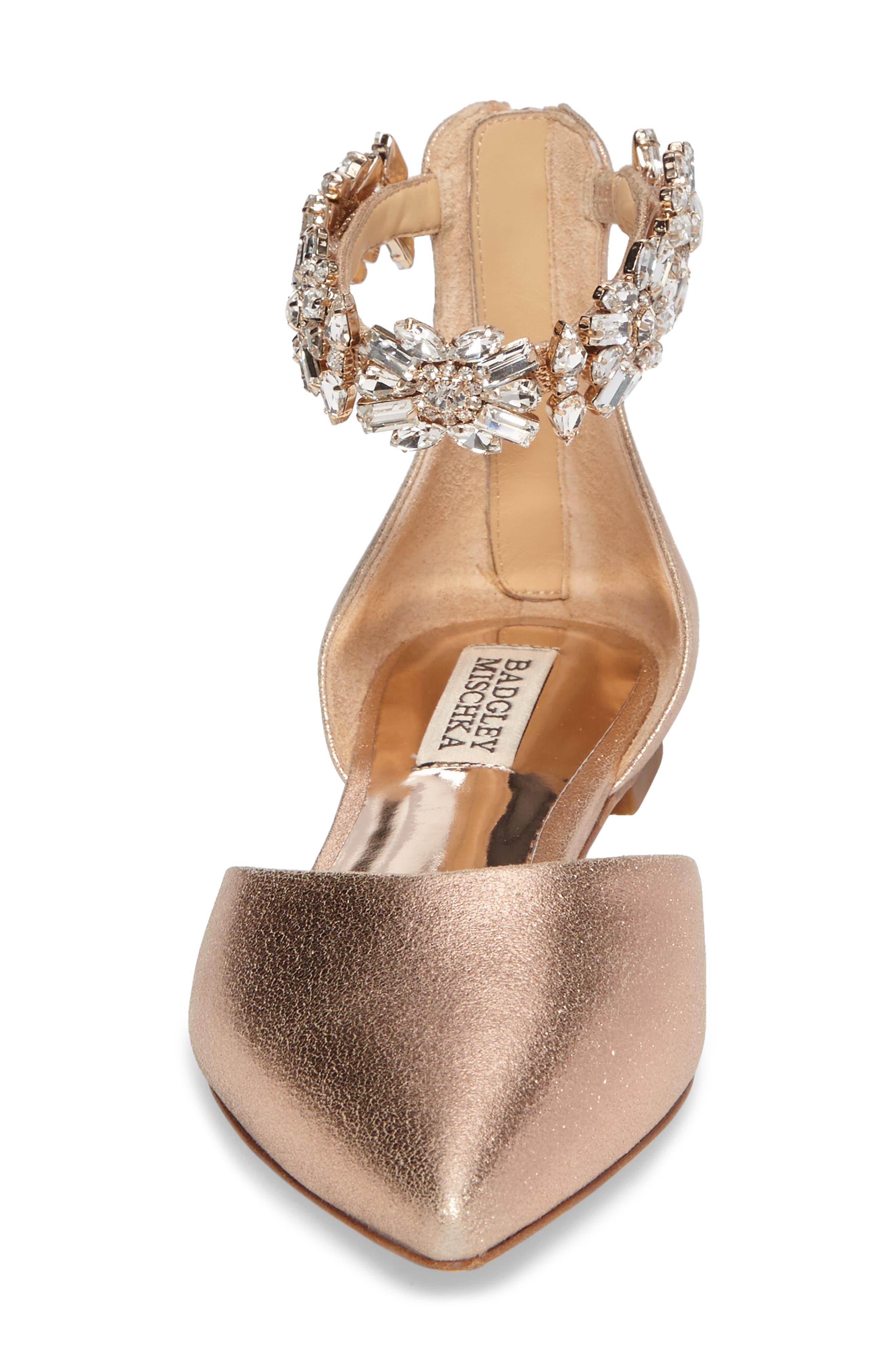 Alternate Image 4  - Badgley Mischka Morgen Ankle Strap Flat (Women)