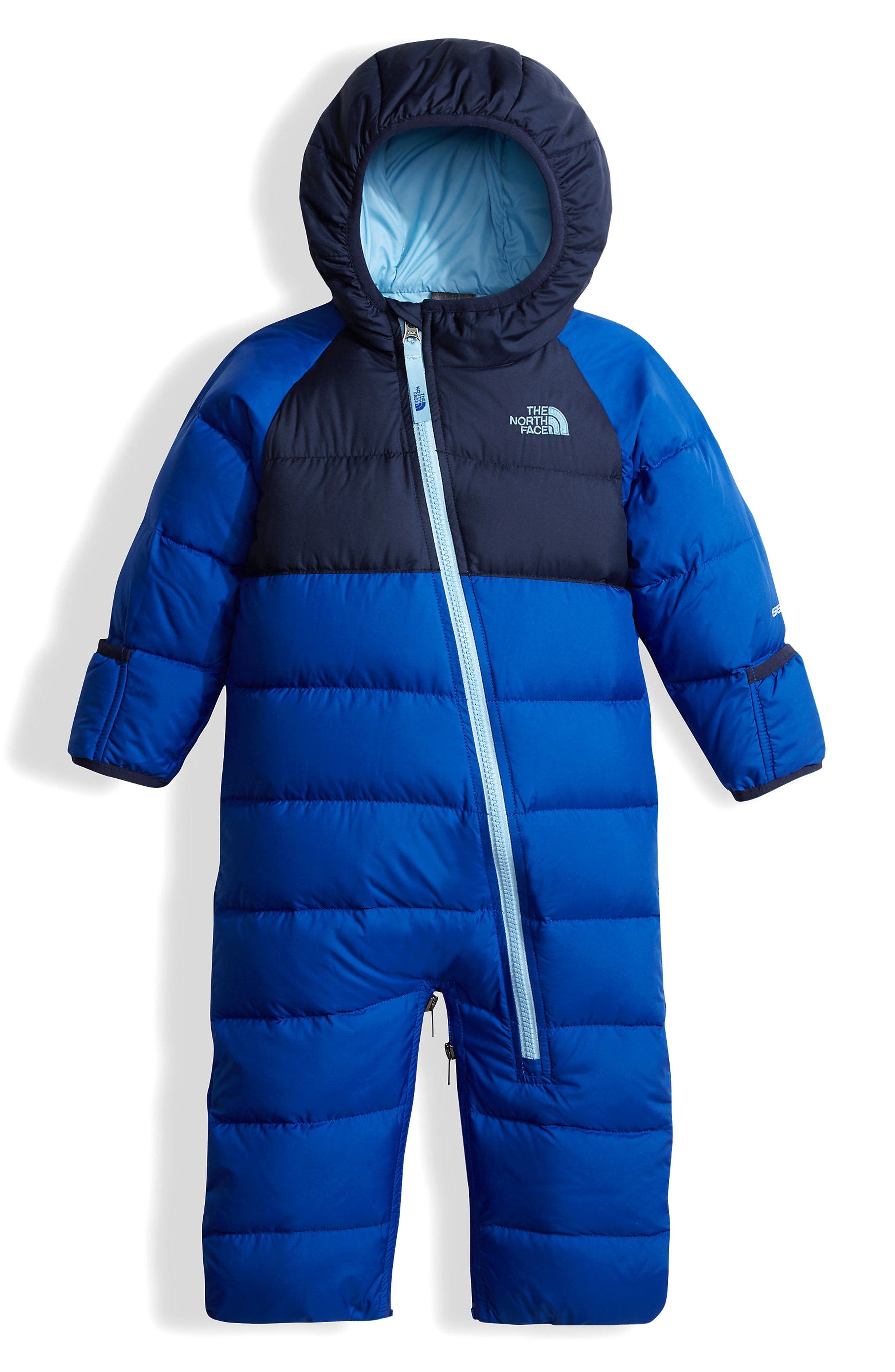 Main Image - The North Face Lil' Snuggler Water Resistant Down Bunting (Baby Boys)