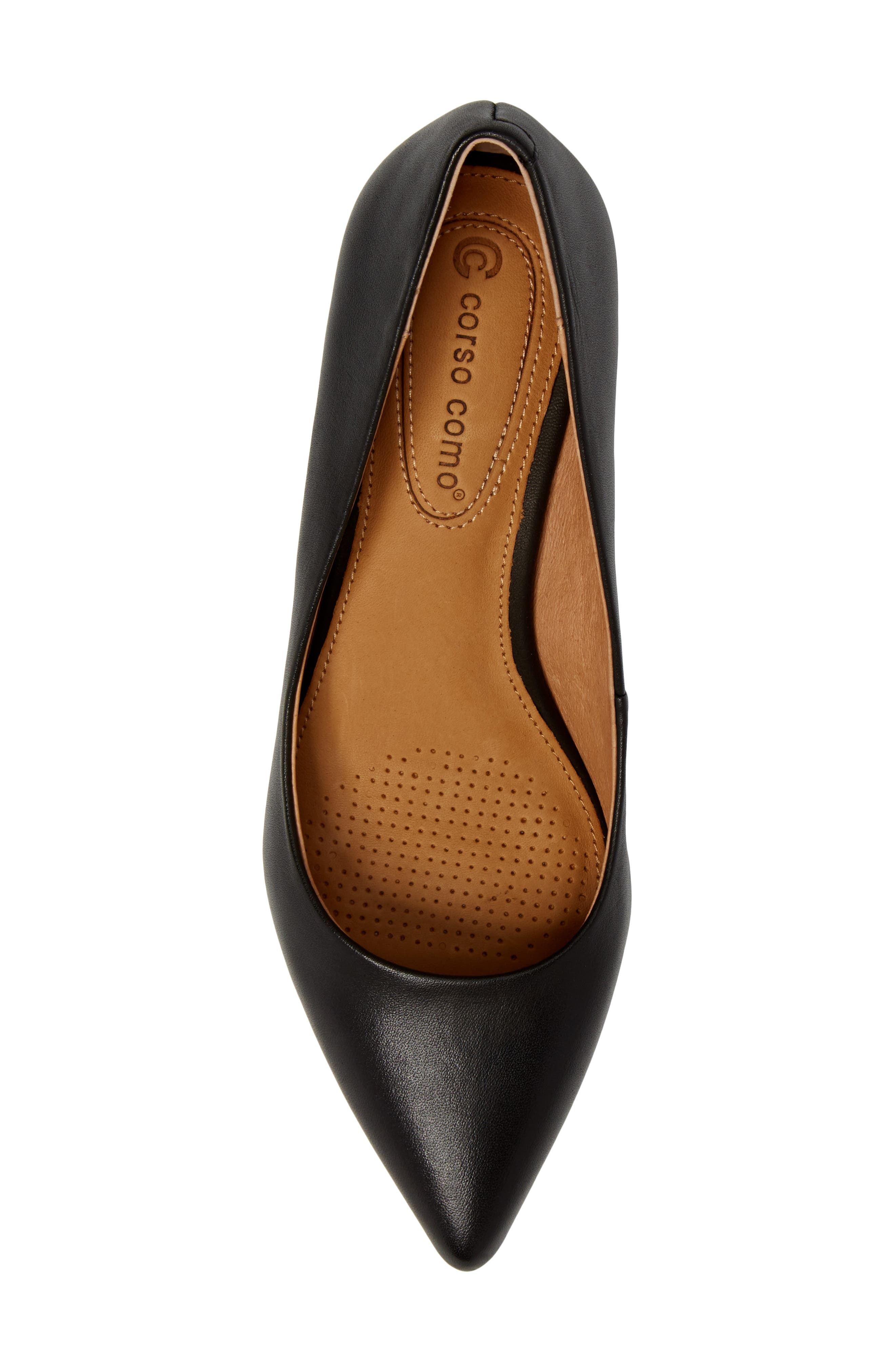 Nelly Pointy Toe Wedge Pump,                             Alternate thumbnail 5, color,                             Black Leather