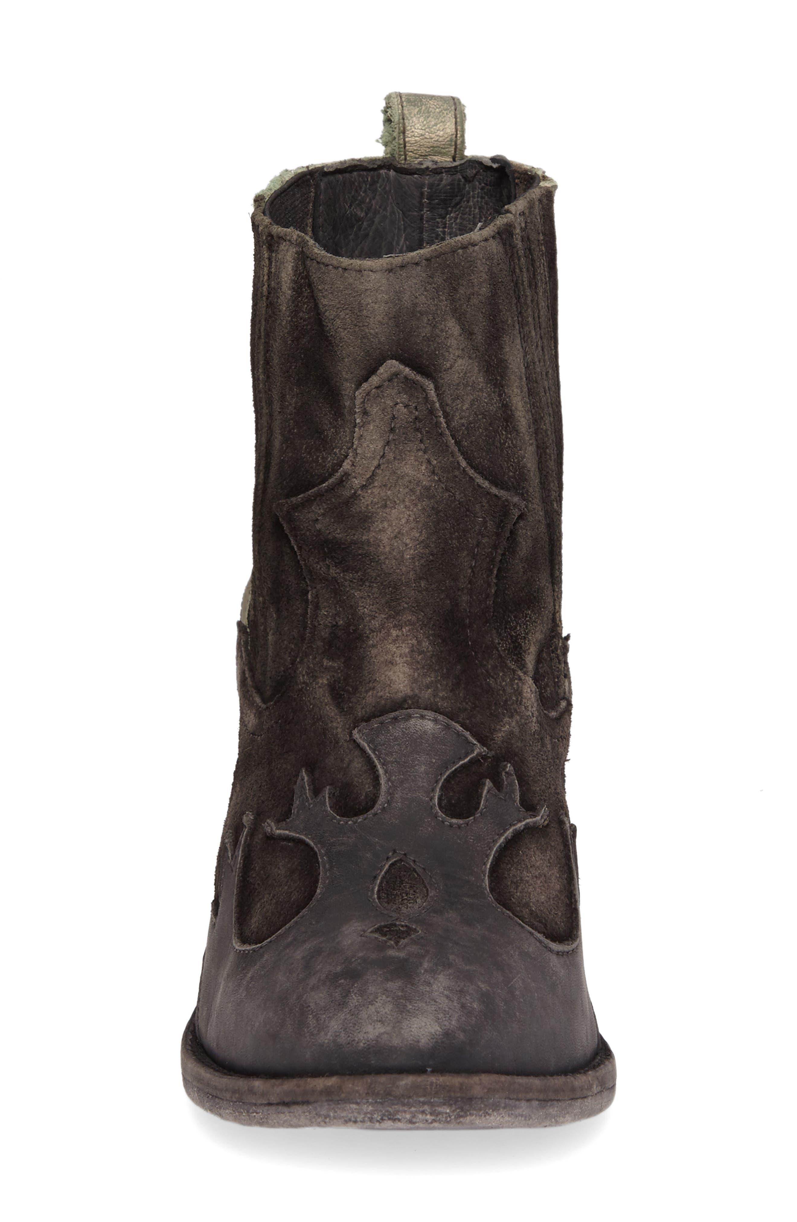 Royston Bootie,                             Alternate thumbnail 4, color,                             Black Leather