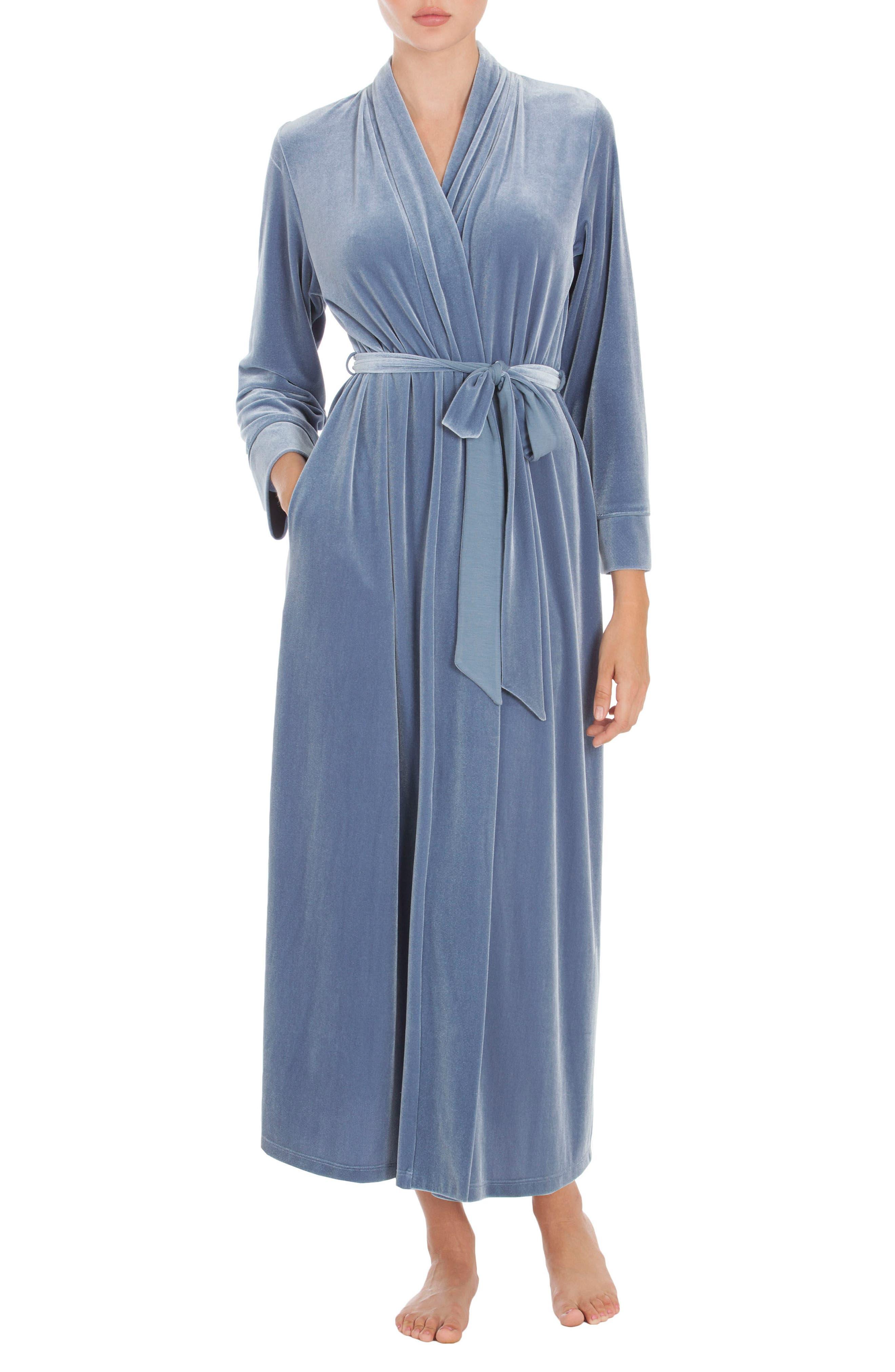 Velvet Robe,                         Main,                         color, Steel Blue