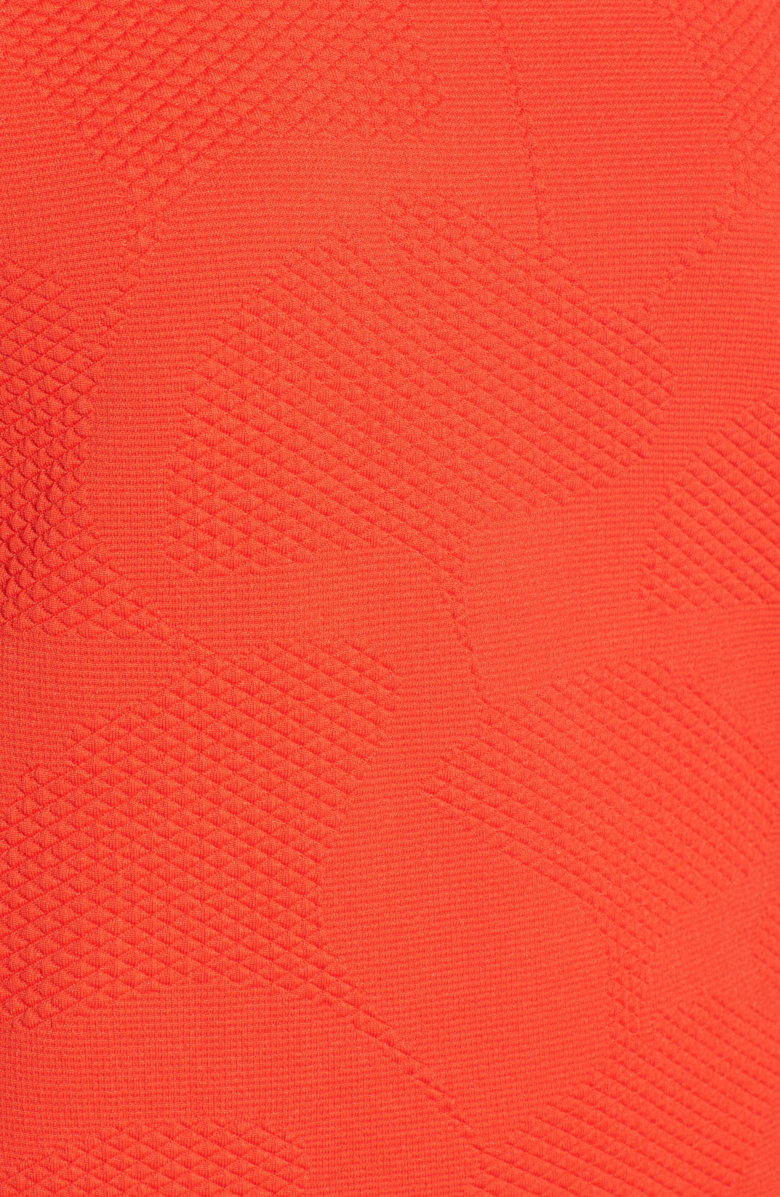 Jacquard Knit Top,                             Alternate thumbnail 5, color,                             Vermillion