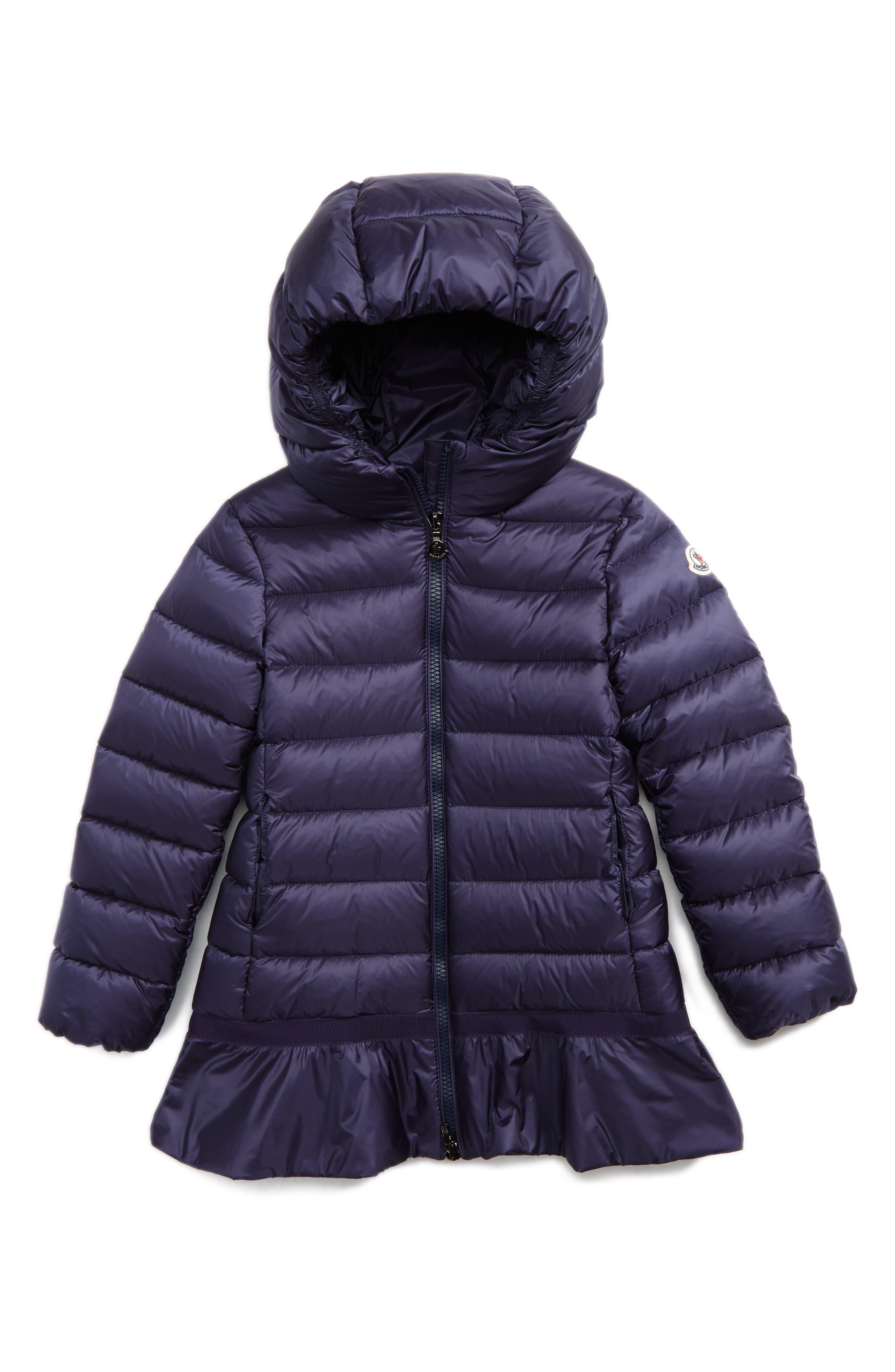 Alternate Image 1 Selected - Moncler Nadra Hooded Down Jacket (Little Girls & Big Girls)