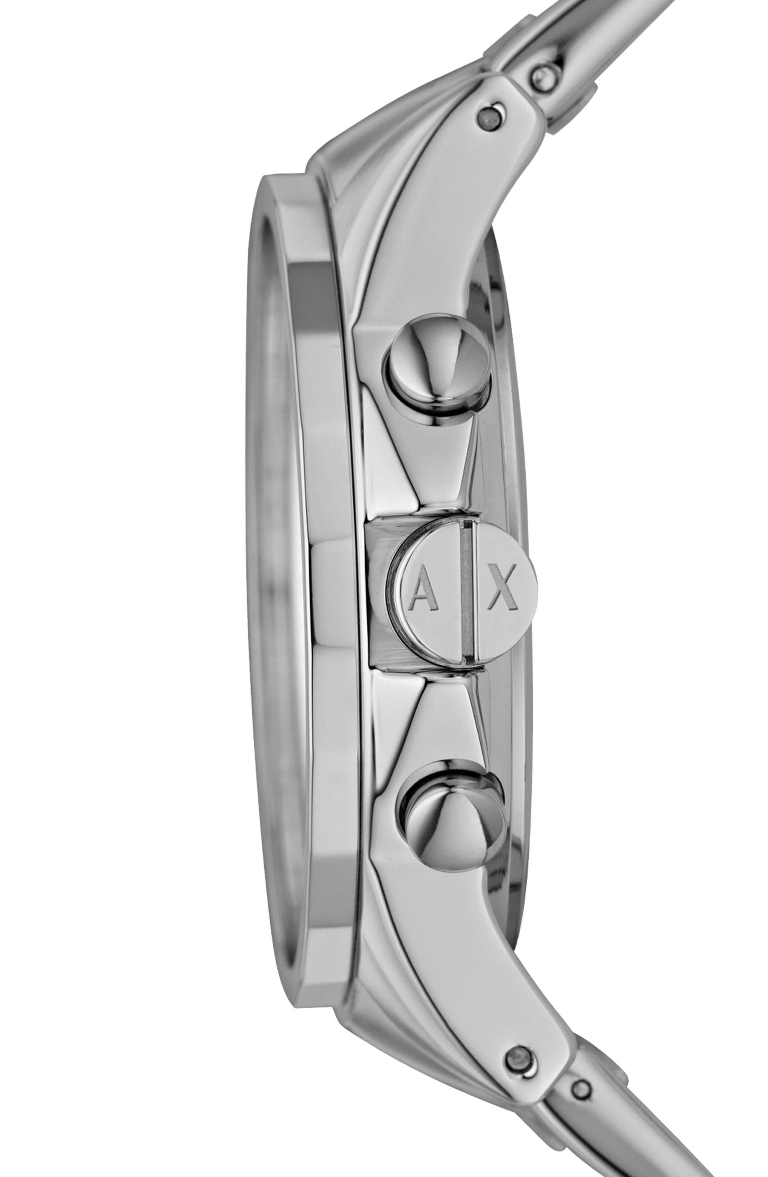 Alternate Image 3  - AX Armani Exchange Round Chronograph Watch, 45mm