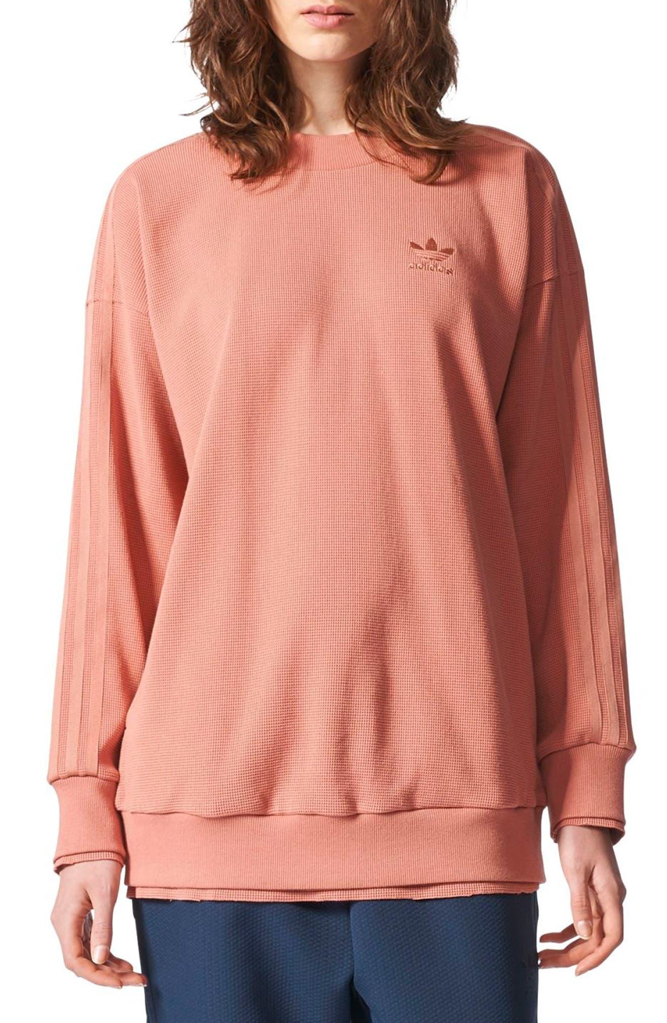 Originals Thermal Sweatshirt,                         Main,                         color, Raw Pink