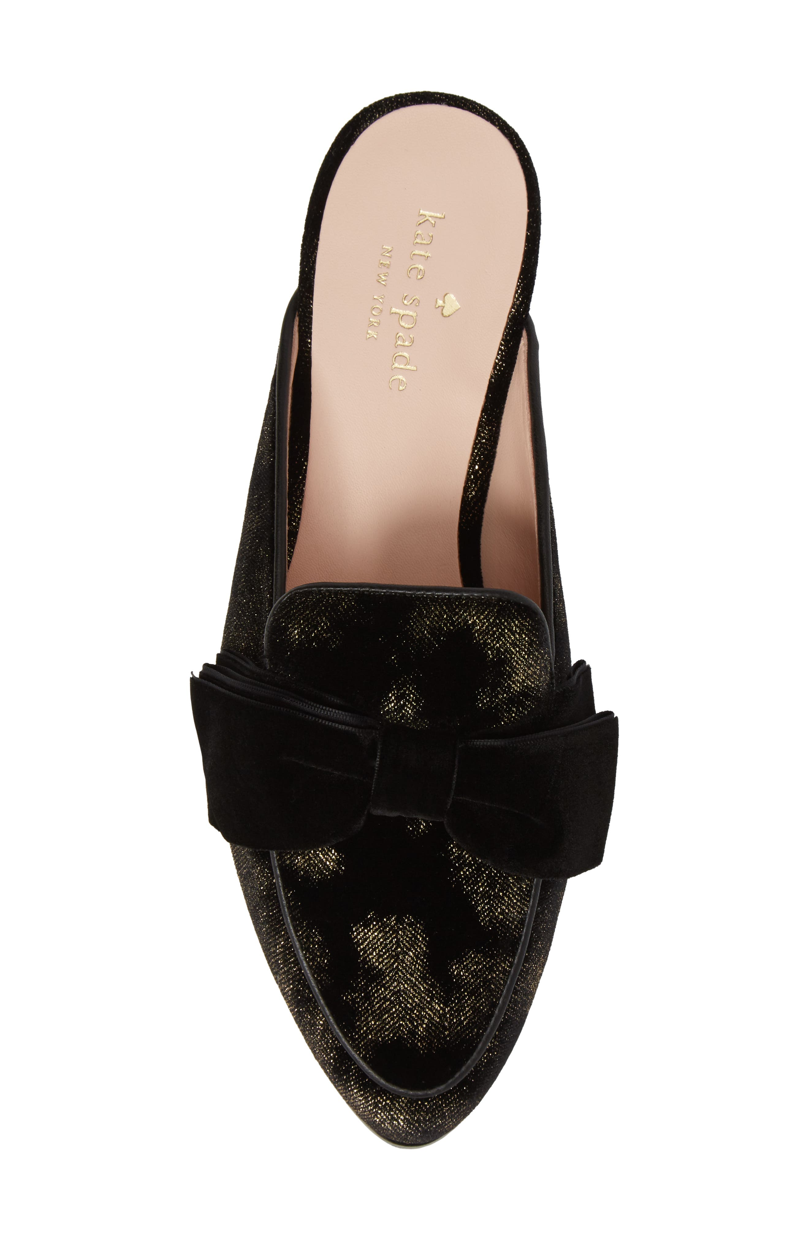 carnegie bow mule,                             Alternate thumbnail 5, color,                             Black Velvet