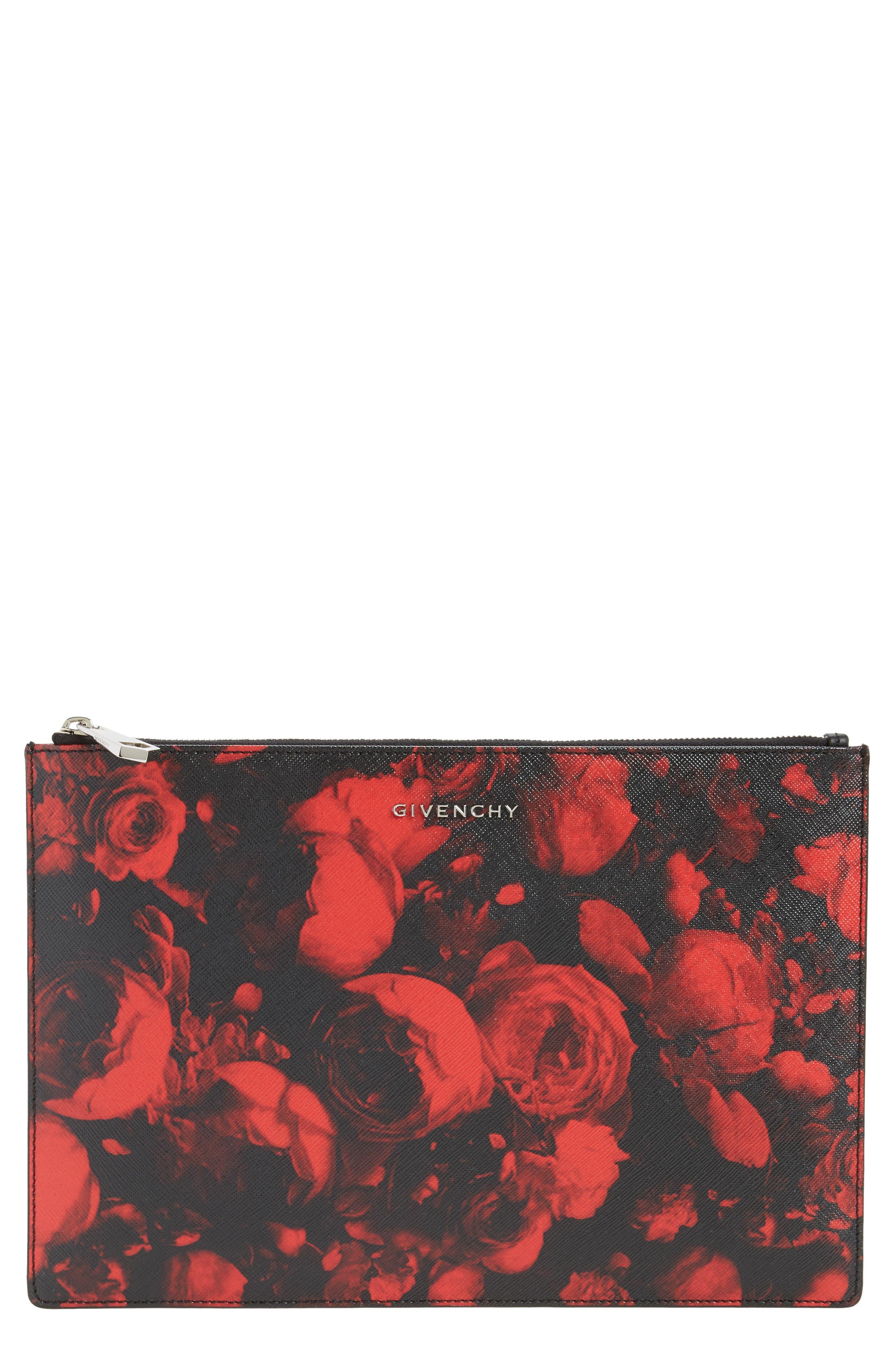 Givenchy Roses Print Pouch