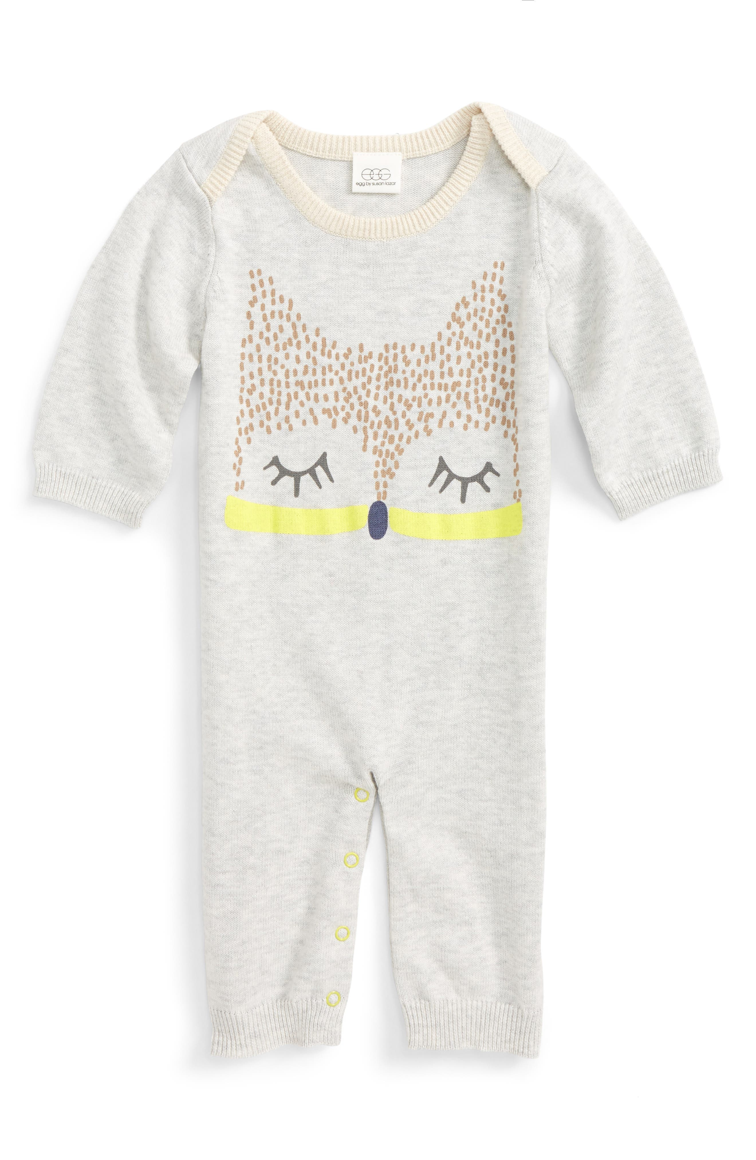 Alternate Image 1 Selected - egg by susan lazar Critter Romper (Baby)