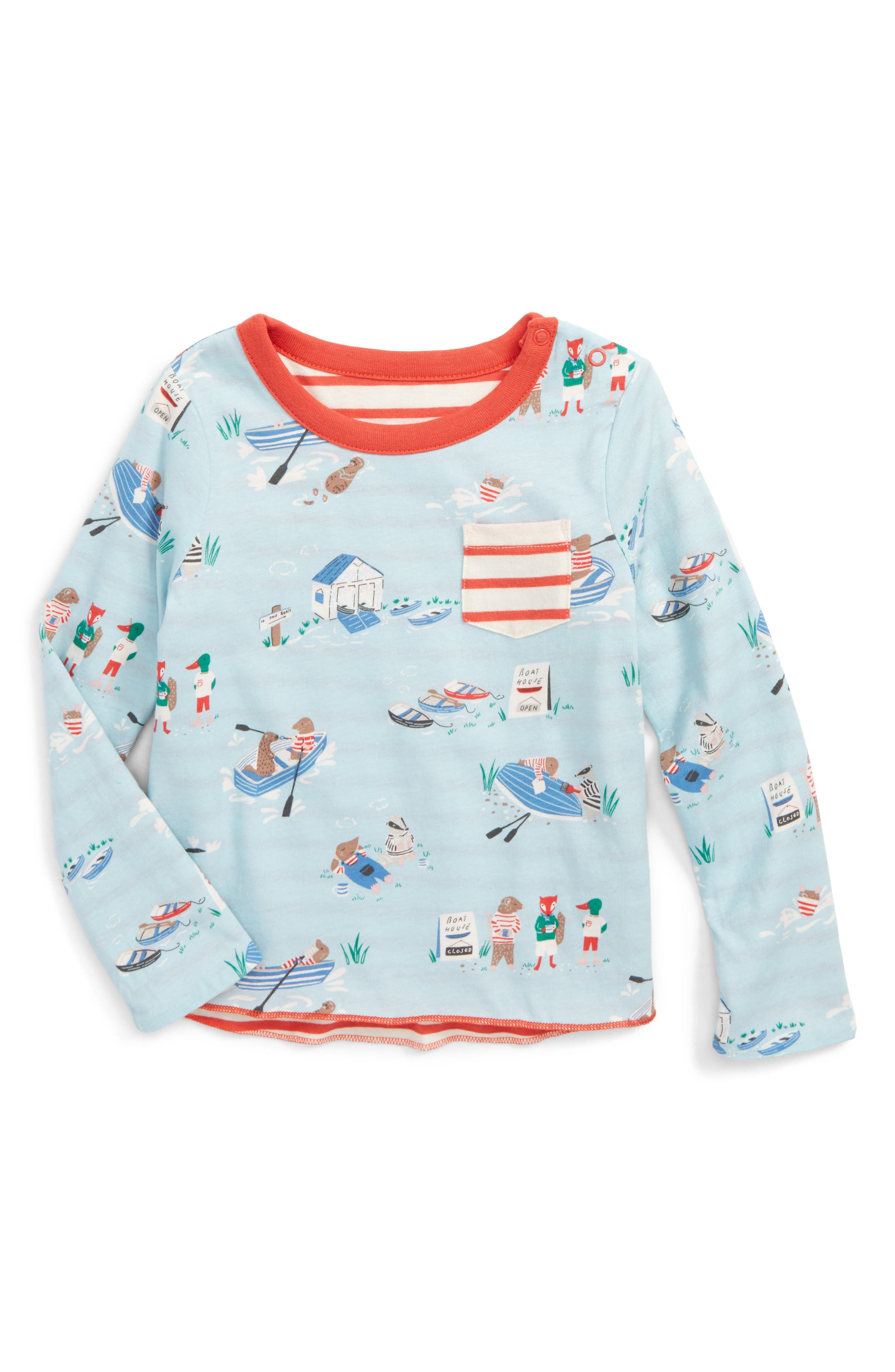 Mini Boden Reversible Print T-Shirt (Baby Boys & Toddler Boys)