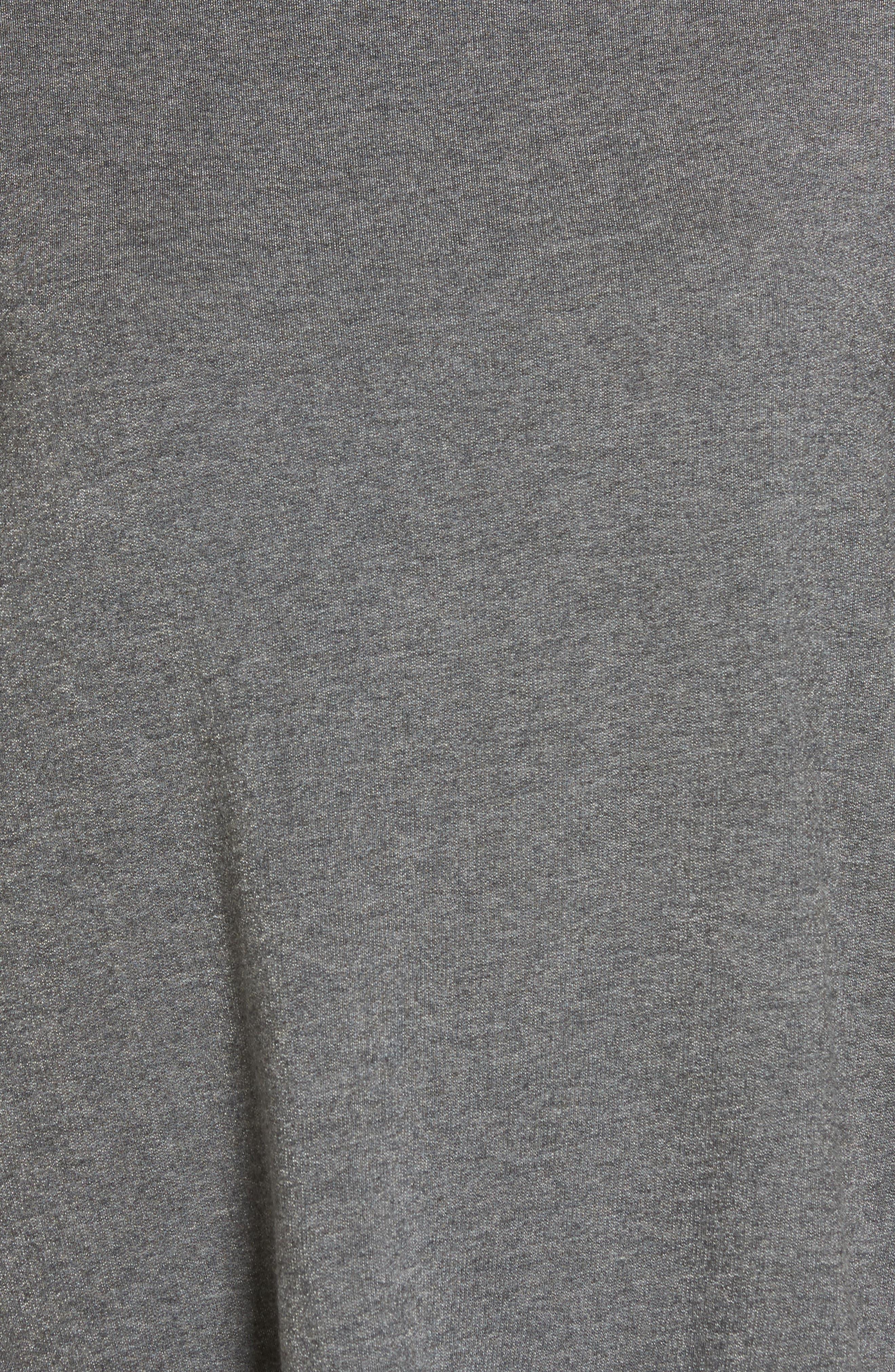 High Neck Sweatshirt,                             Alternate thumbnail 5, color,                             Charcoal Mix