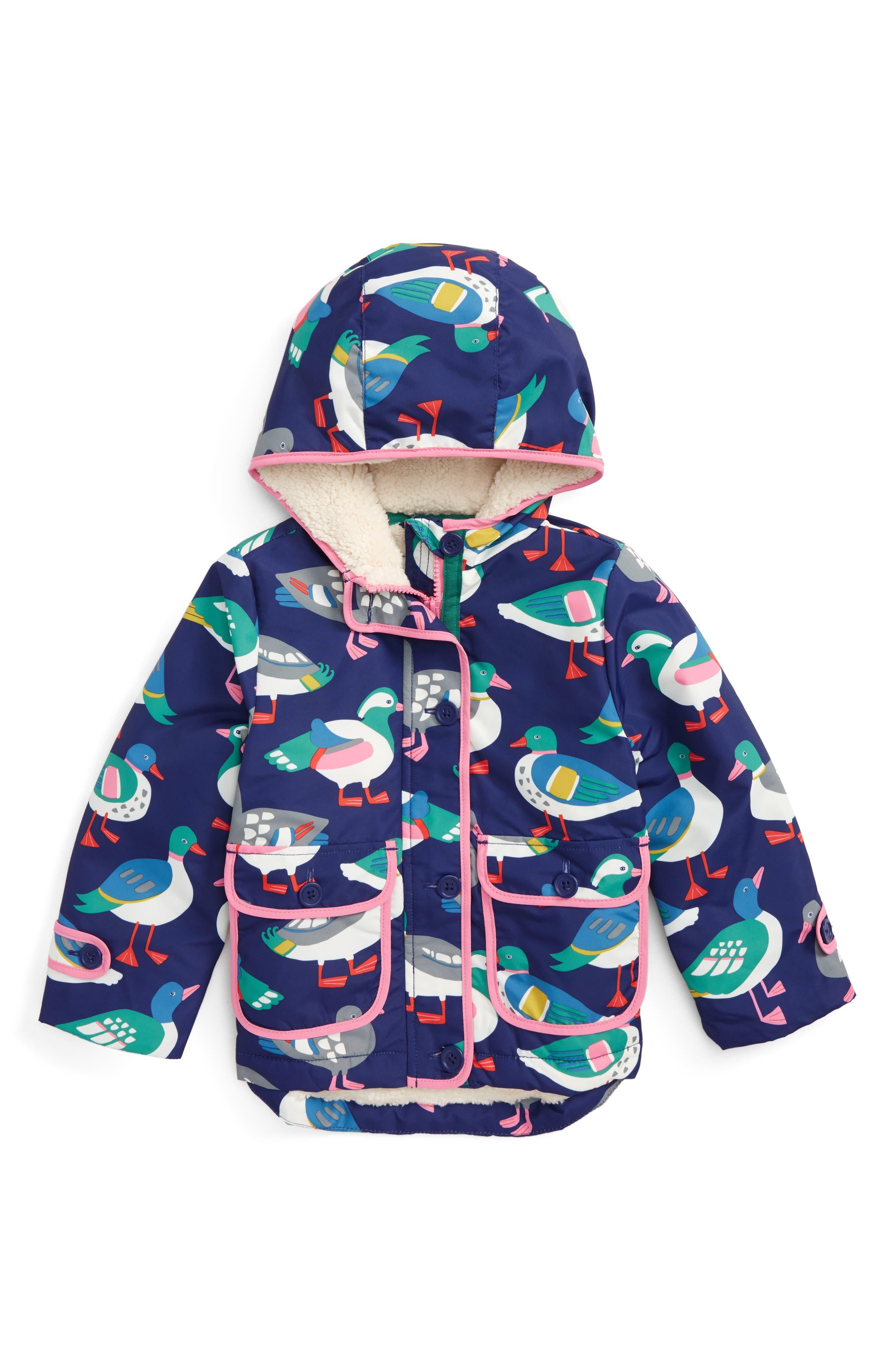 Mini Boden Shower-Resistant Hooded Anorak (Toddler Girls, Little Girls & Big Girls)