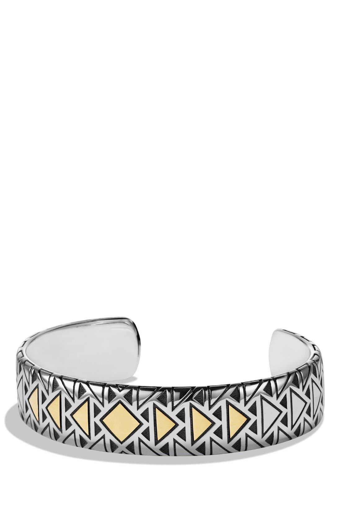 Southwest Cuff Bracelet with 18K Gold,                         Main,                         color, Two Tone