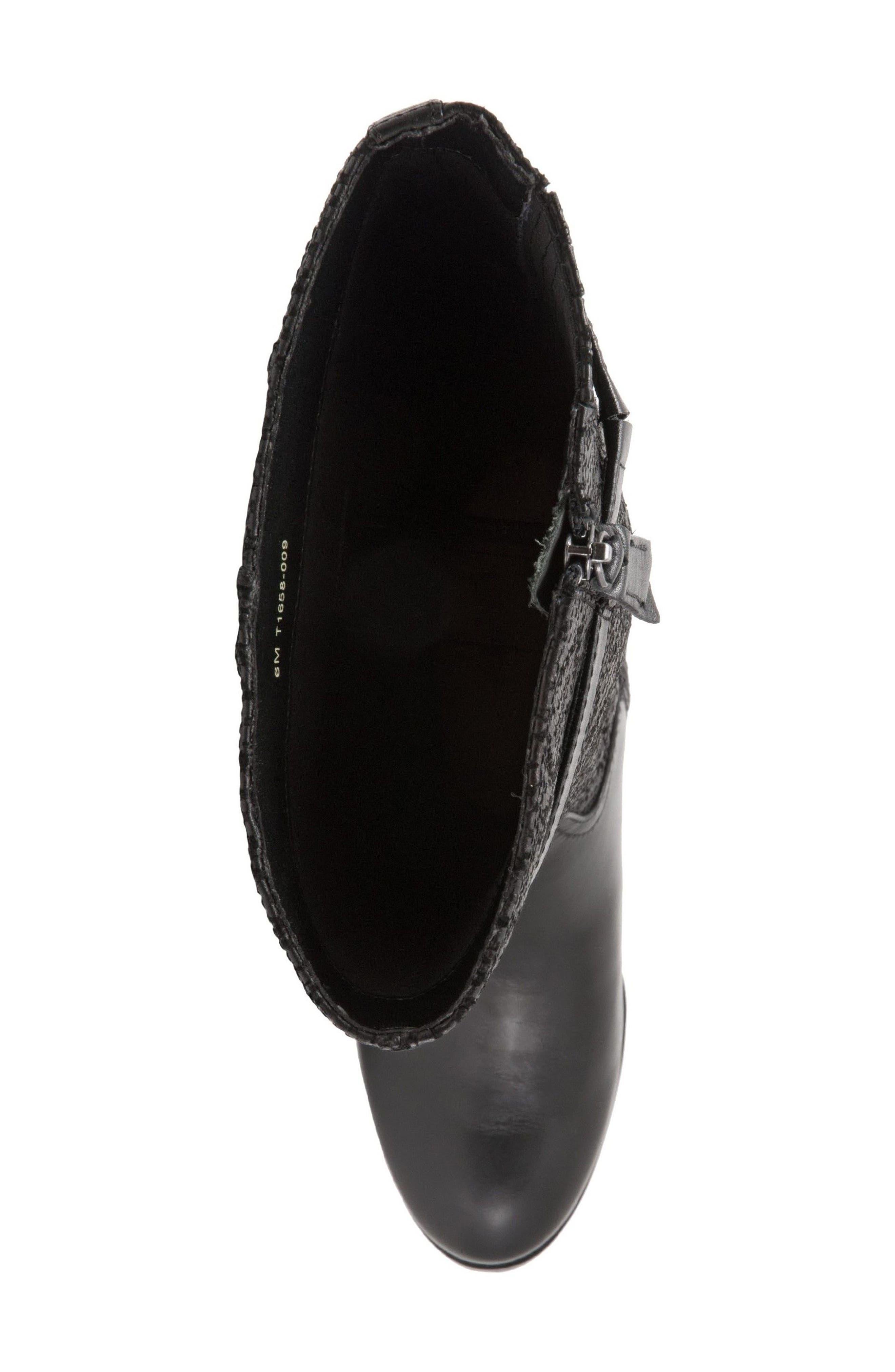 Lyra Tall Boot,                             Alternate thumbnail 5, color,                             Black