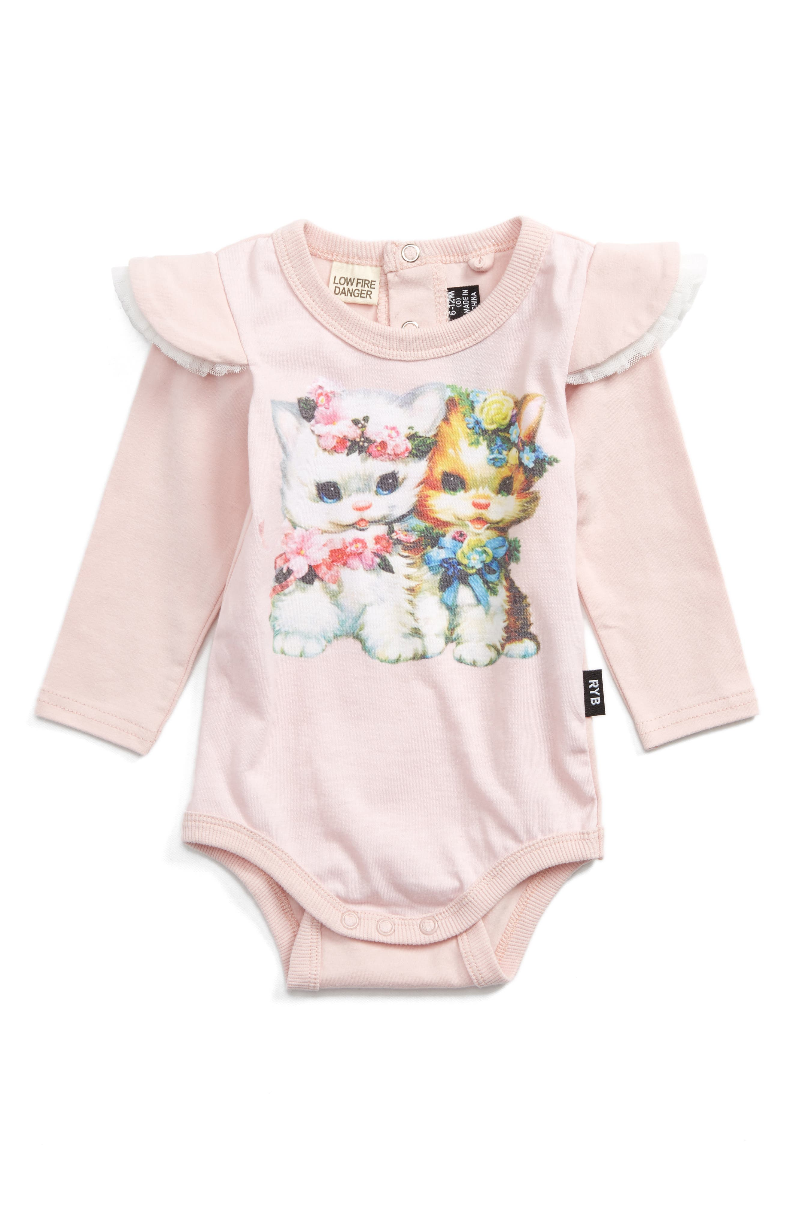 Lulu & Lola Bodysuit,                         Main,                         color, Pink