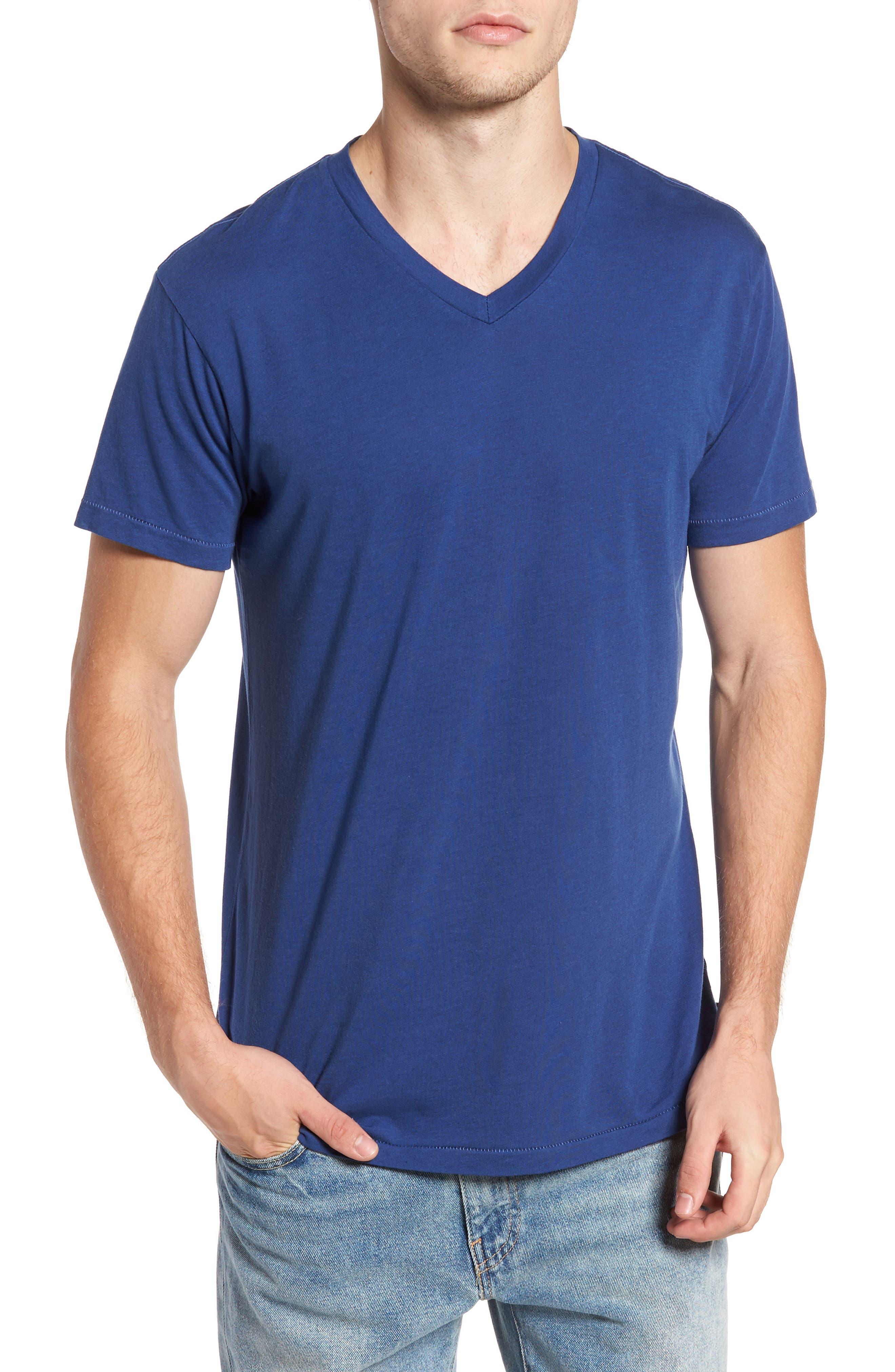 Essential V-Neck T-Shirt,                         Main,                         color, Sapphire