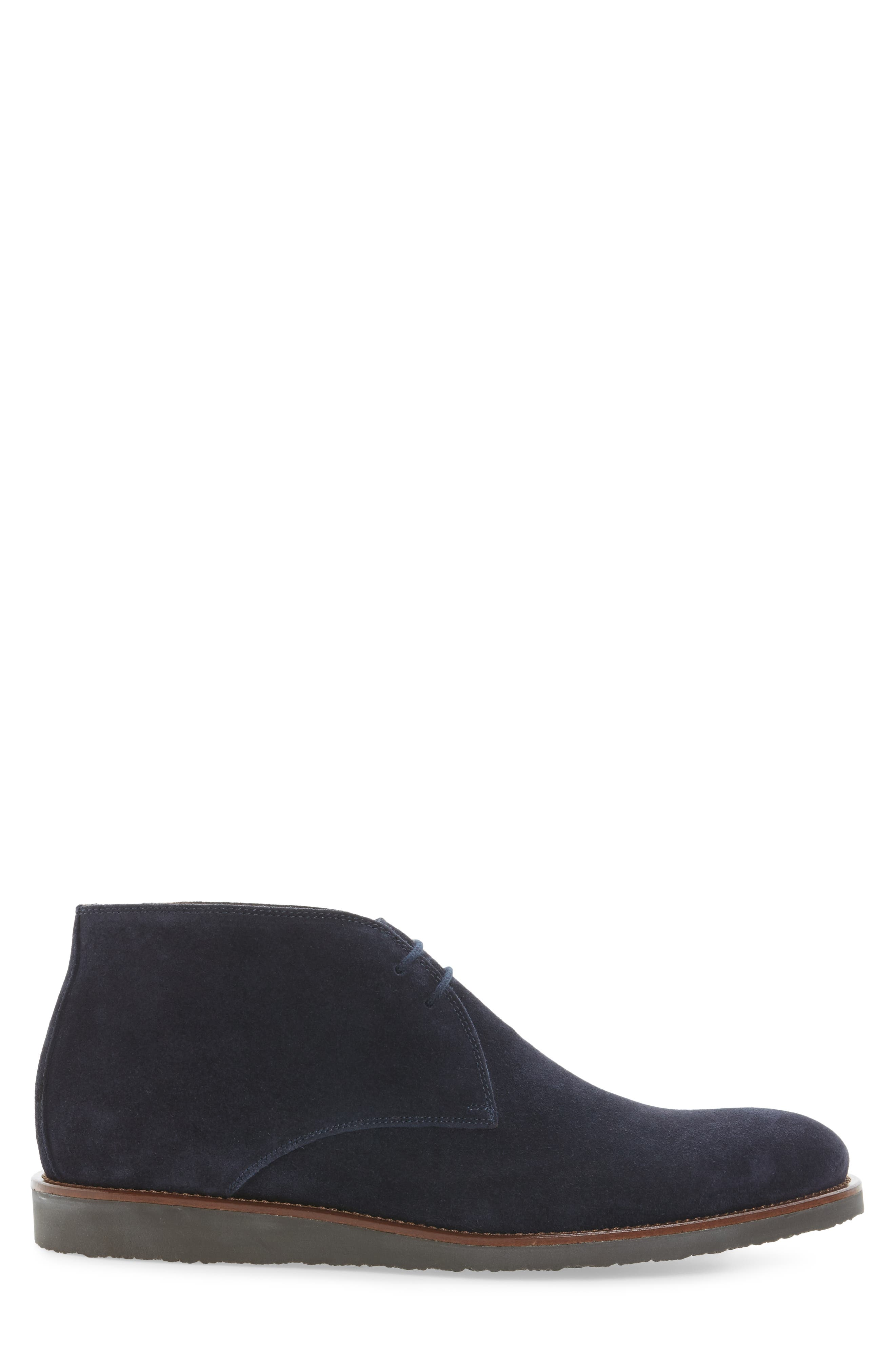 Franklin Chukka Boot,                             Alternate thumbnail 3, color,                             Blue Suede
