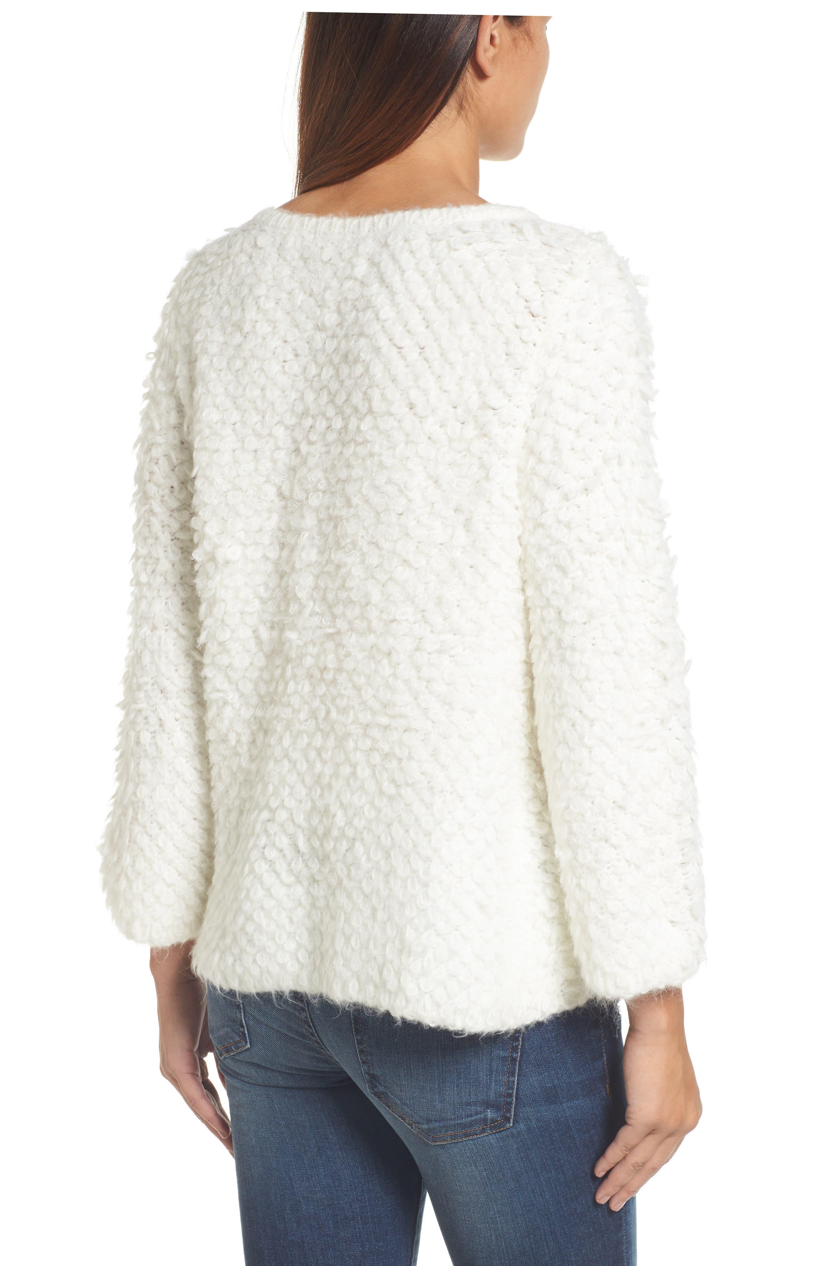 Alternate Image 2  - Caslon® Loop Stitch Crewneck Sweater