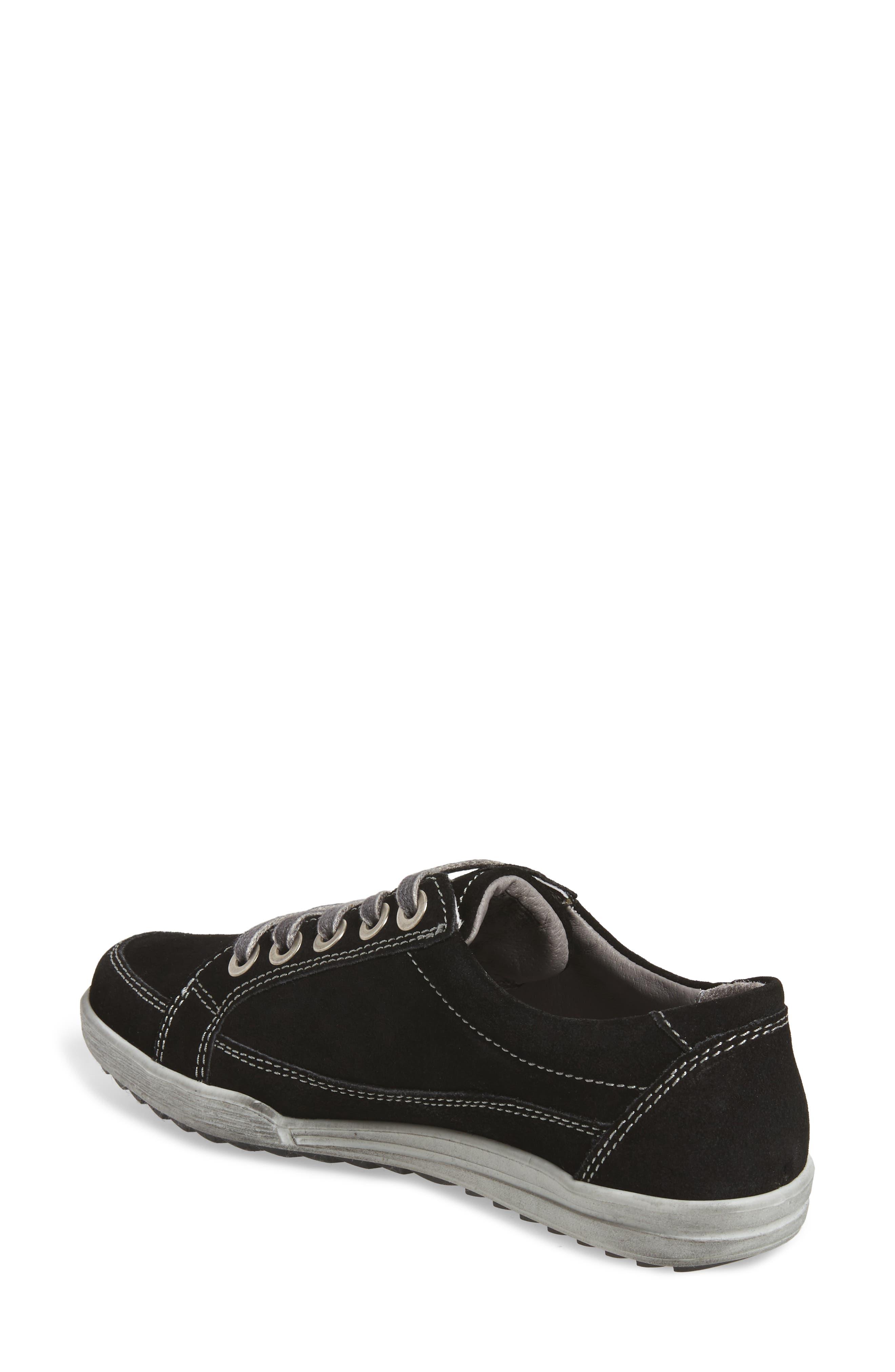 Dany 57 Sneaker,                             Alternate thumbnail 2, color,                             Black Leather