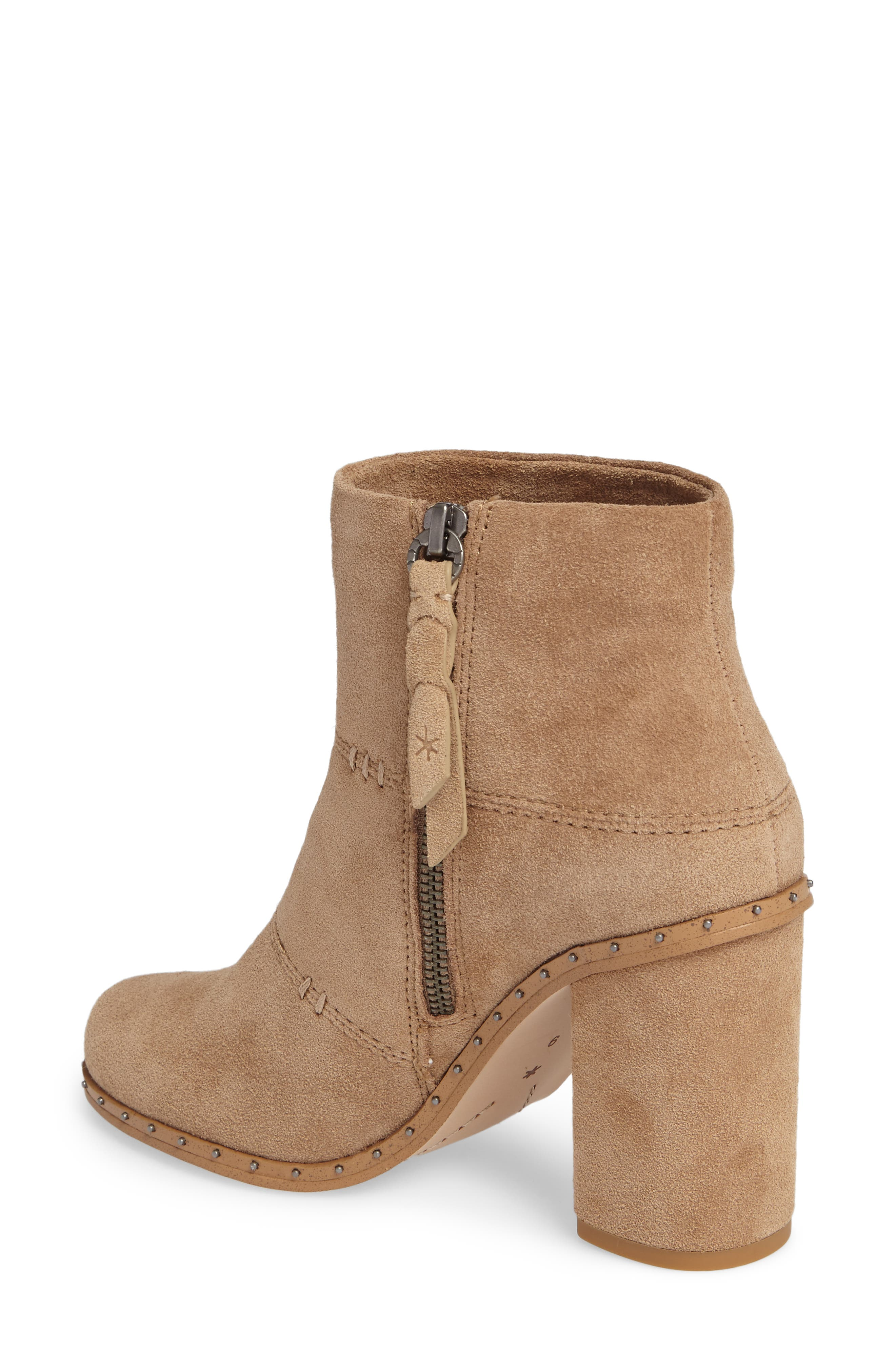 Rita Bootie,                             Alternate thumbnail 2, color,                             Light Taupe Suede