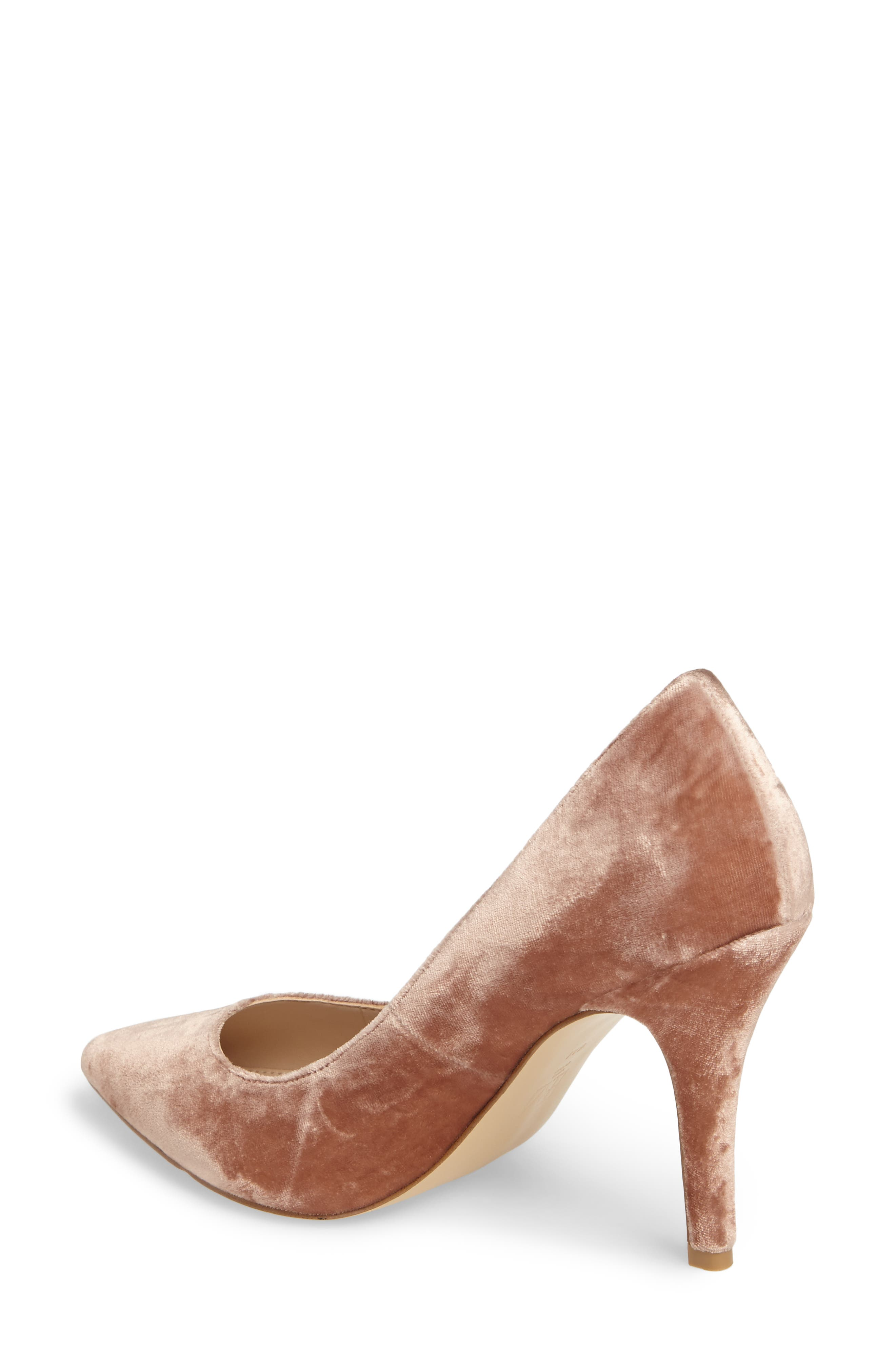 Vally2 Pointy Toe Pump,                             Alternate thumbnail 2, color,                             Blush Fabric