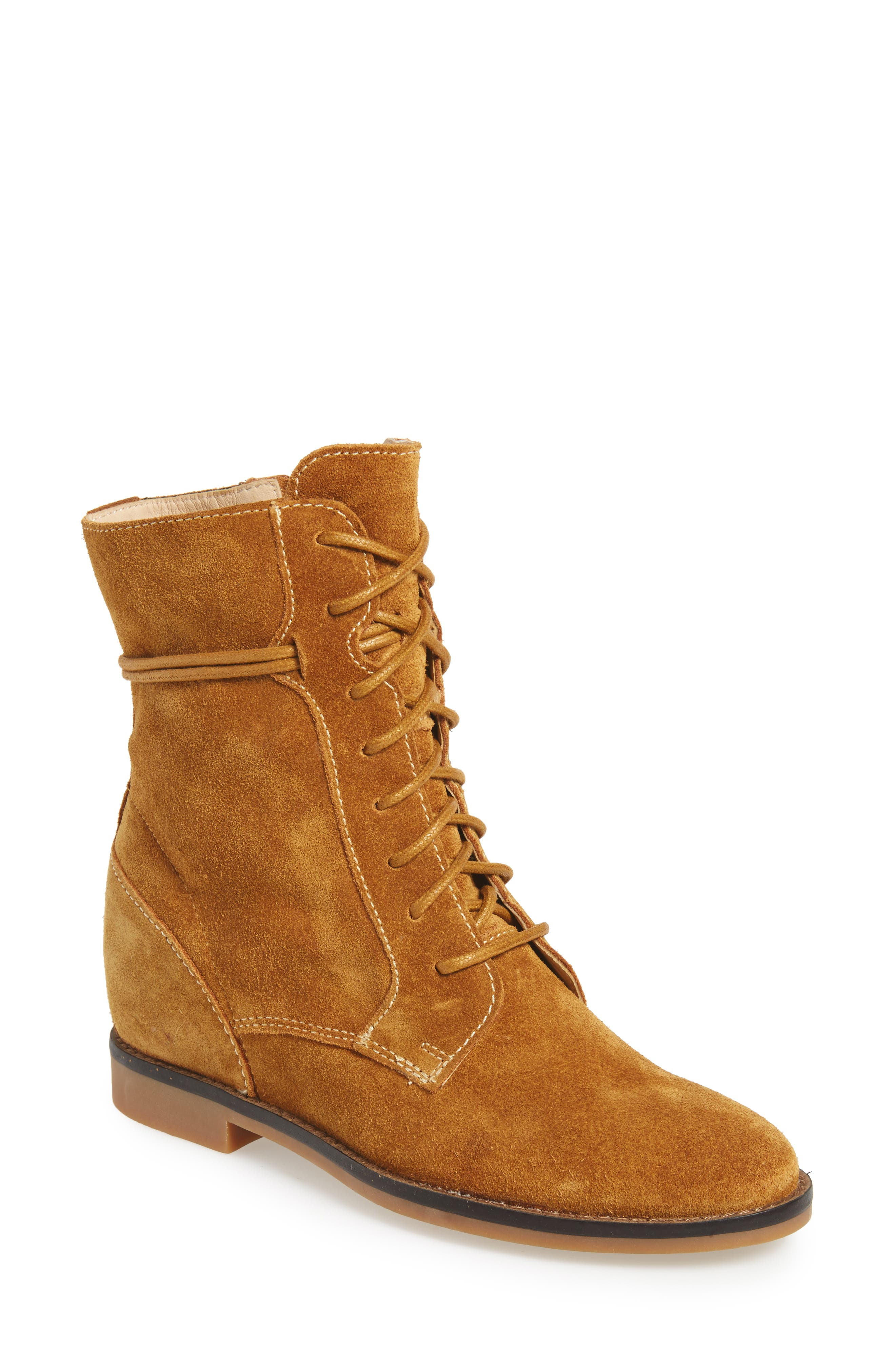Bab Felise Boot,                         Main,                         color, Camel Suede