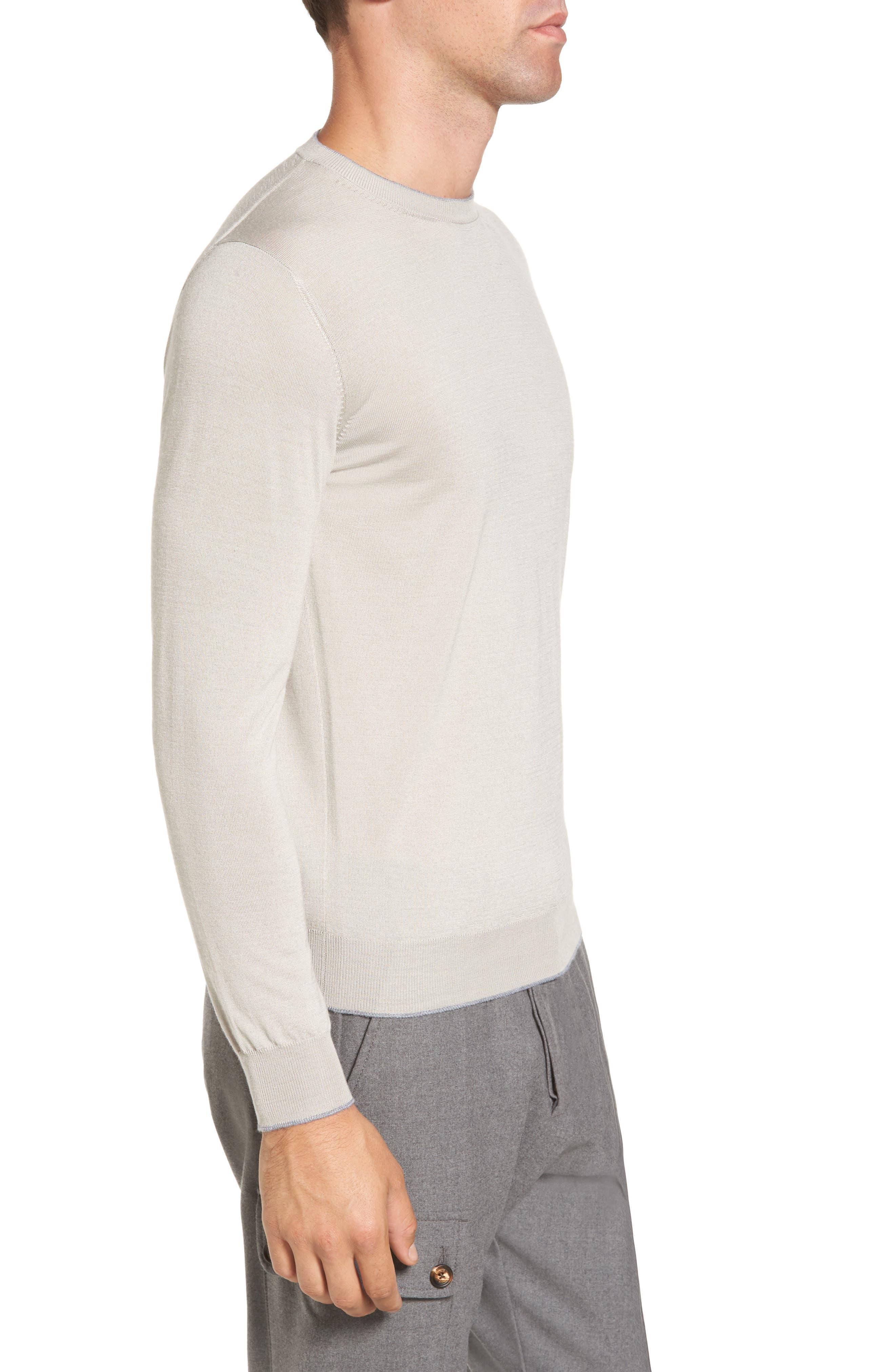 Alternate Image 3  - Eleventy Merino Wool & Silk Tipped Sweater