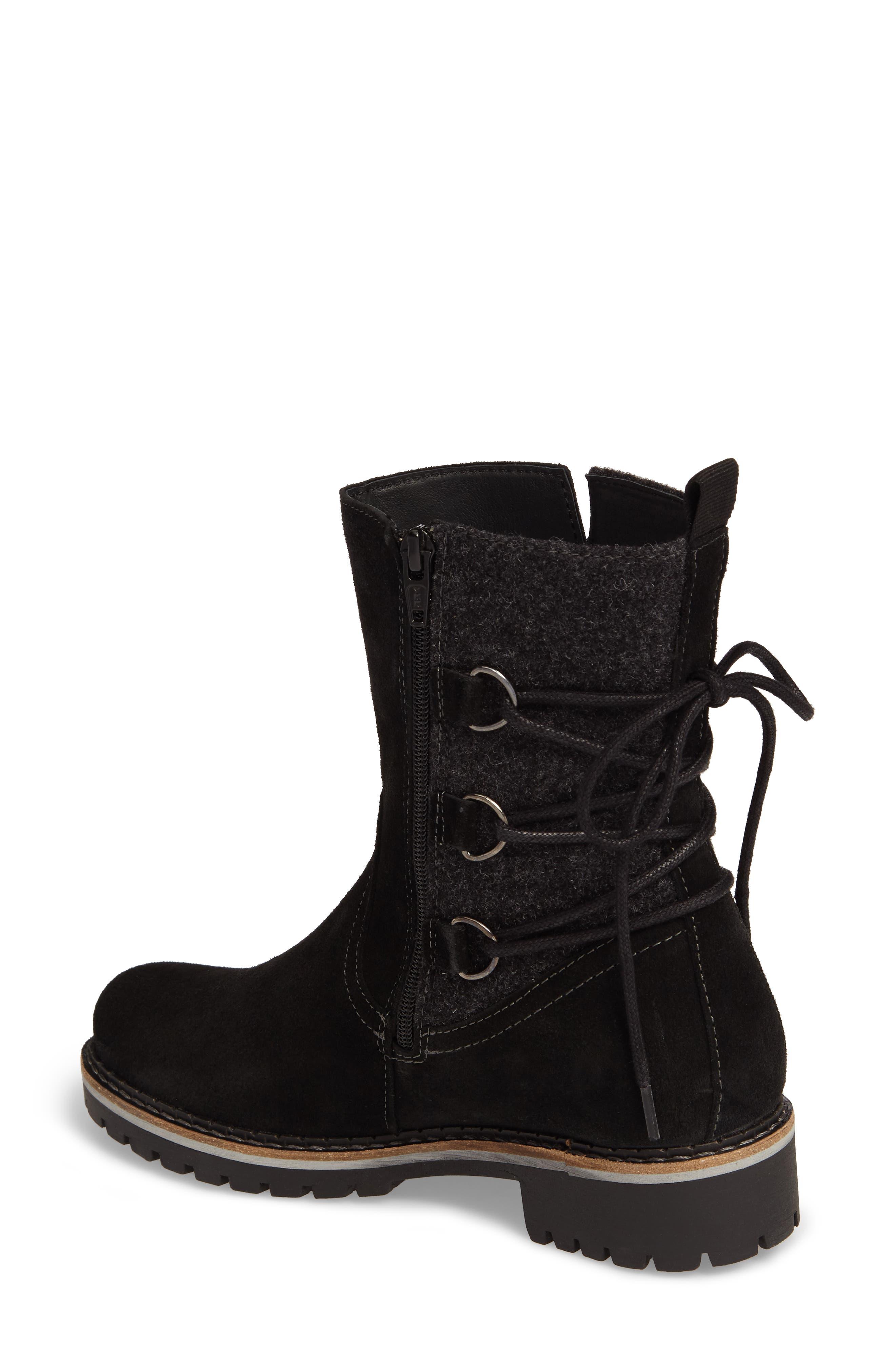 Cascade Waterproof Boot,                             Alternate thumbnail 2, color,                             Black/ Grey Suede