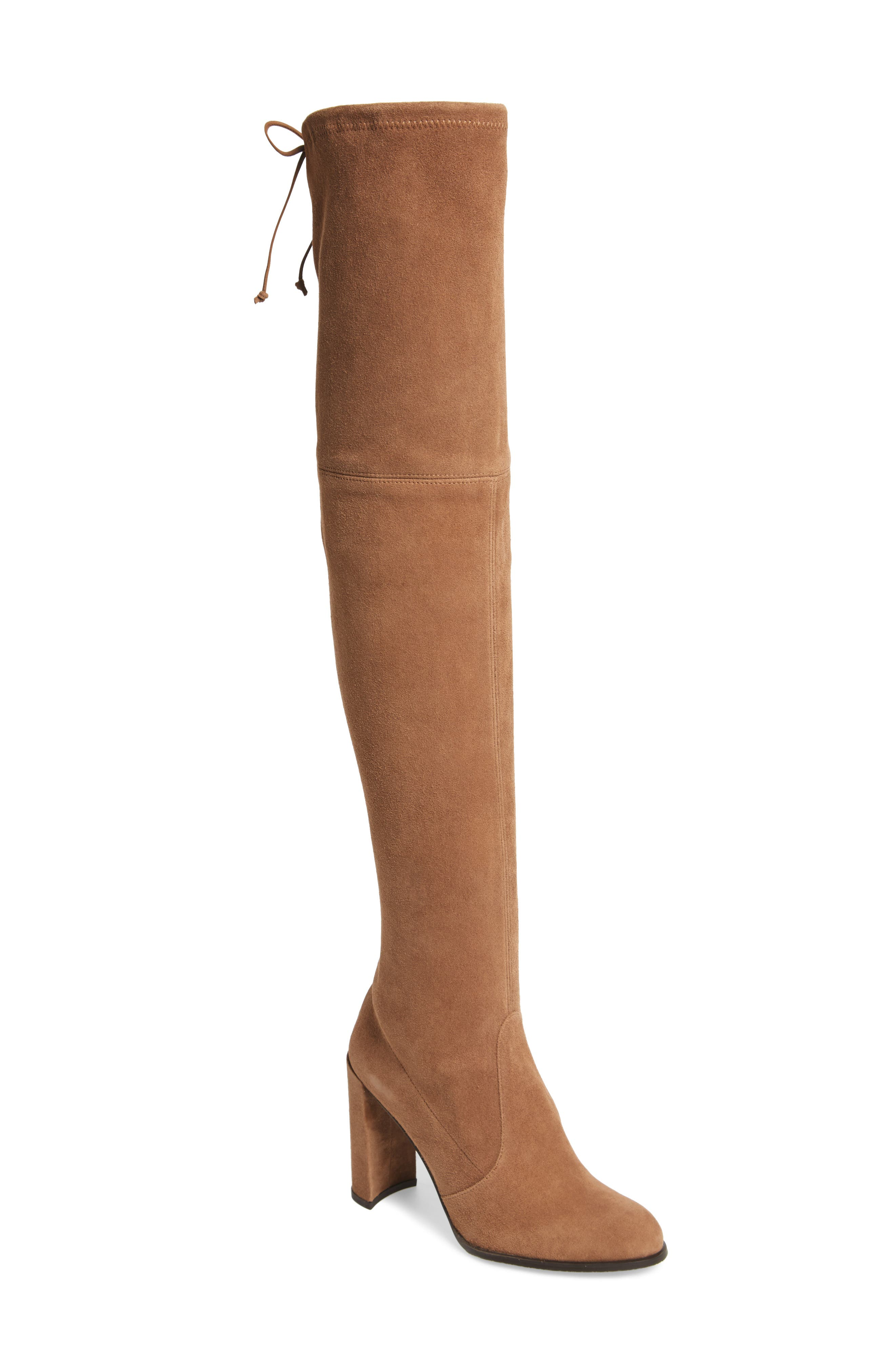 Hiline Over the Knee Boot,                             Main thumbnail 1, color,                             Nutmeg Suede