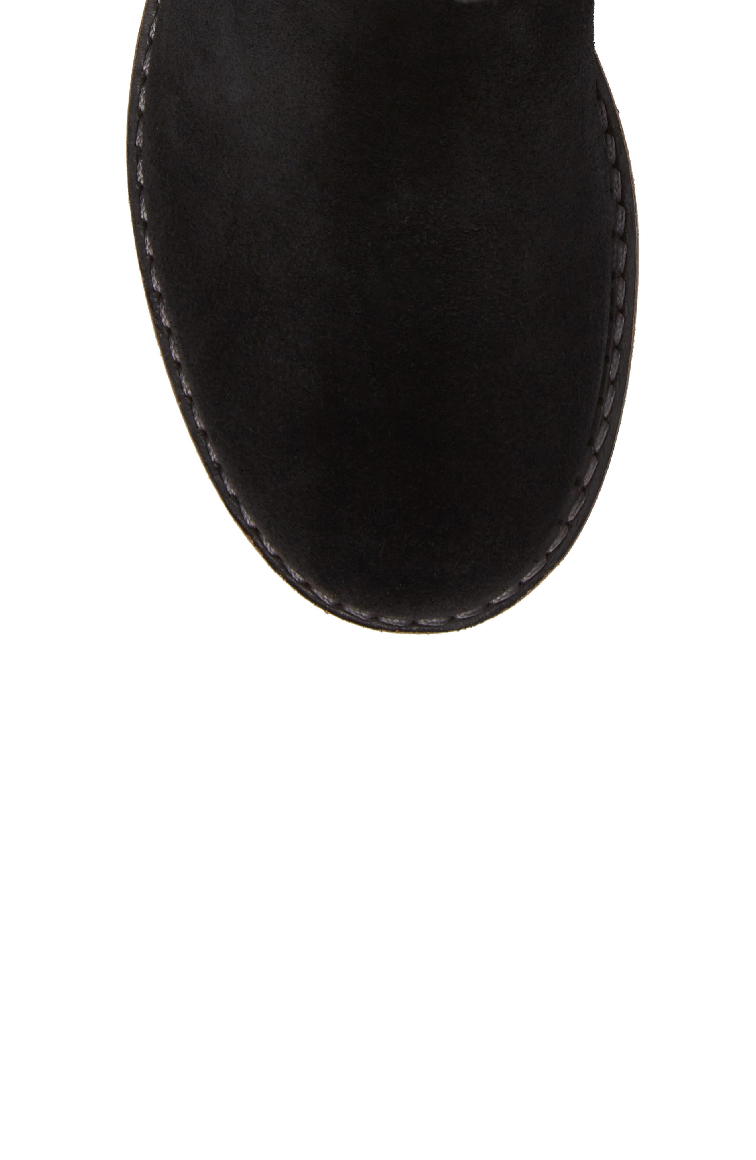 Cascade Waterproof Boot,                             Alternate thumbnail 5, color,                             Black/ Grey Suede