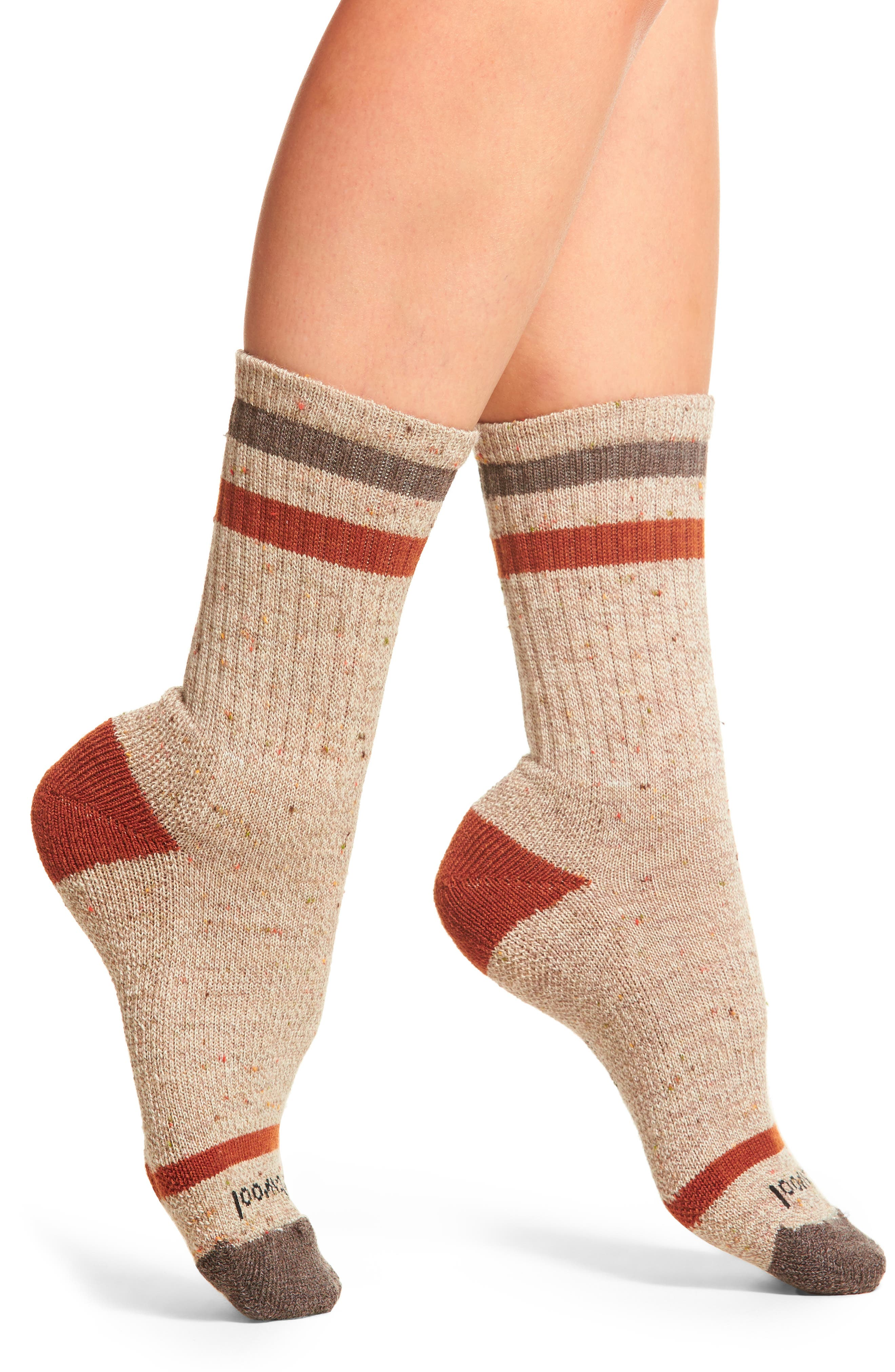 Birkie Crew Socks,                         Main,                         color, Fossil Heather