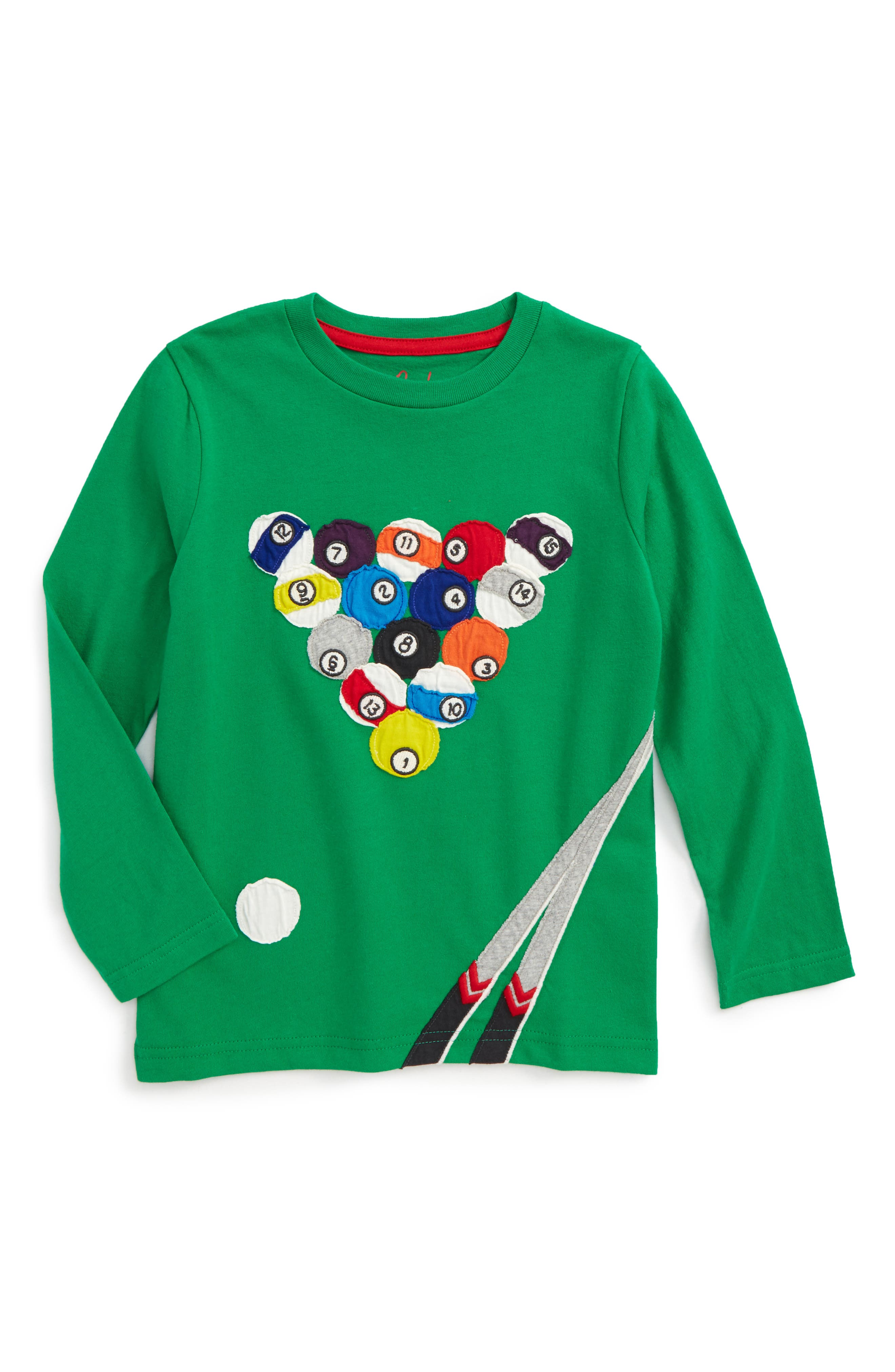Main Image - Mini Boden Sporty Appliqué T-Shirt (Toddler Boys, Little Boys & Big Boys)
